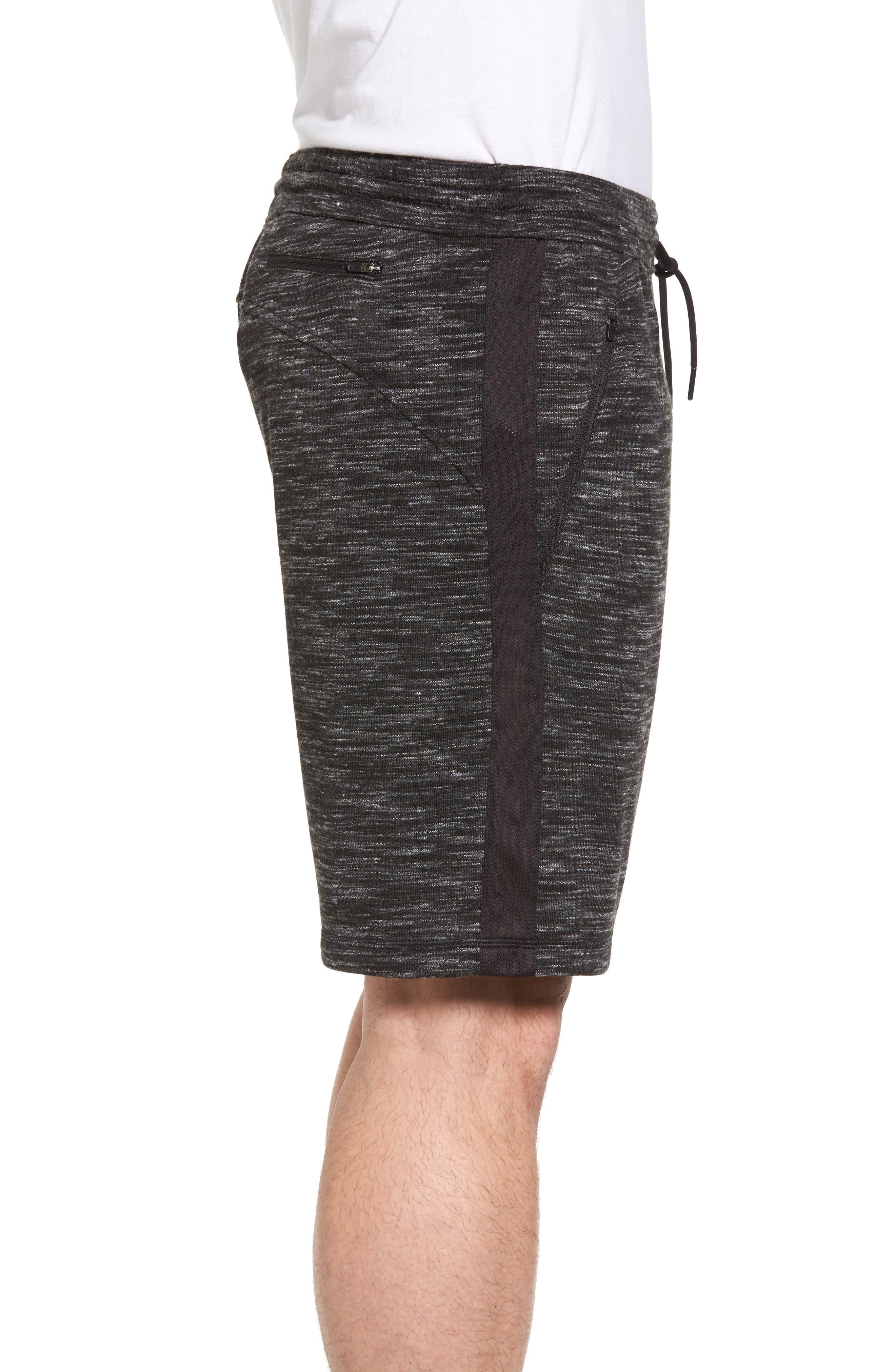 Neptune Terrycloth Shorts,                             Alternate thumbnail 3, color,                             Black Oxide Melange