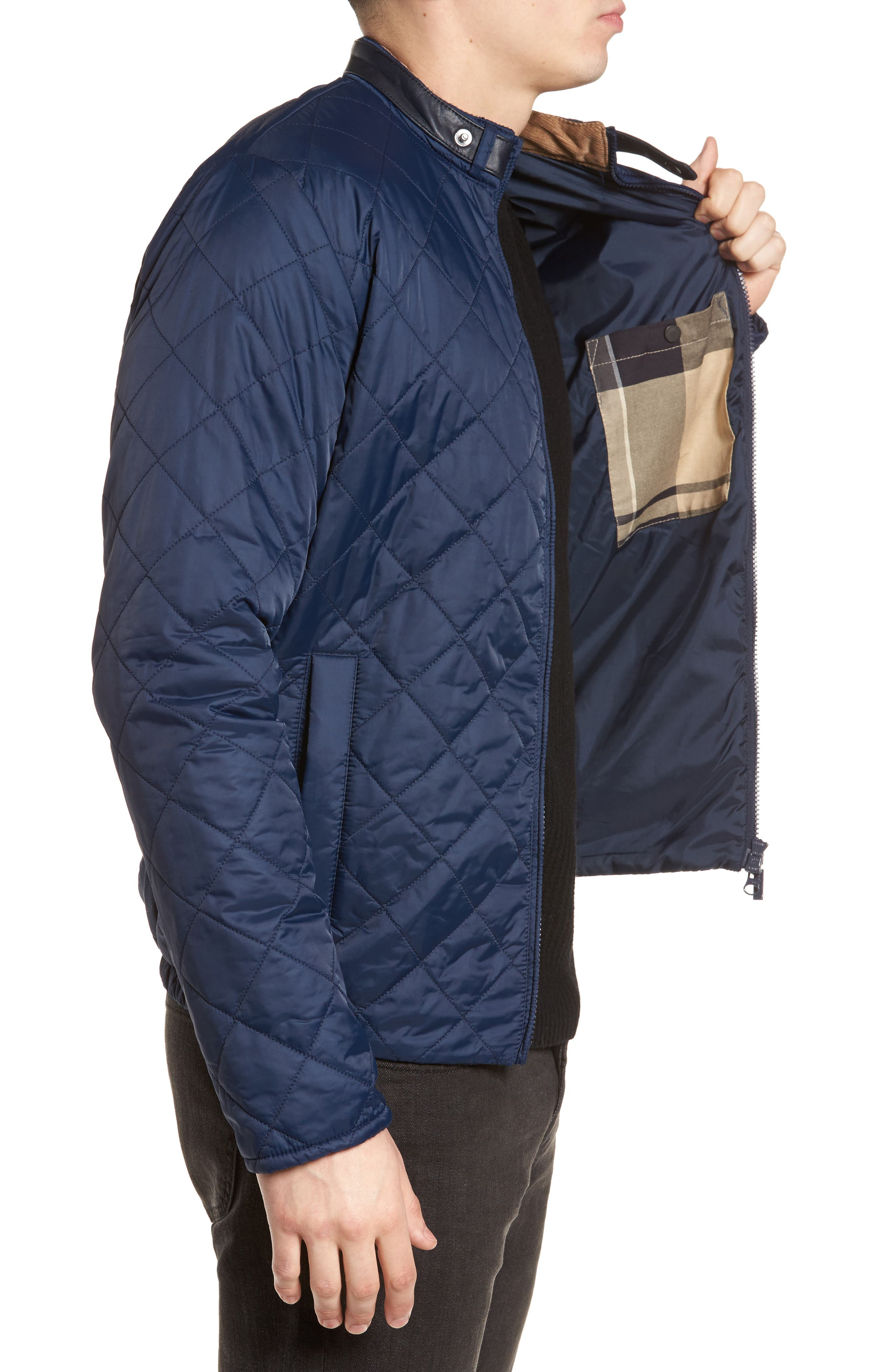 Ard Quilted Jacket,                             Alternate thumbnail 4, color,                             Royal Navy