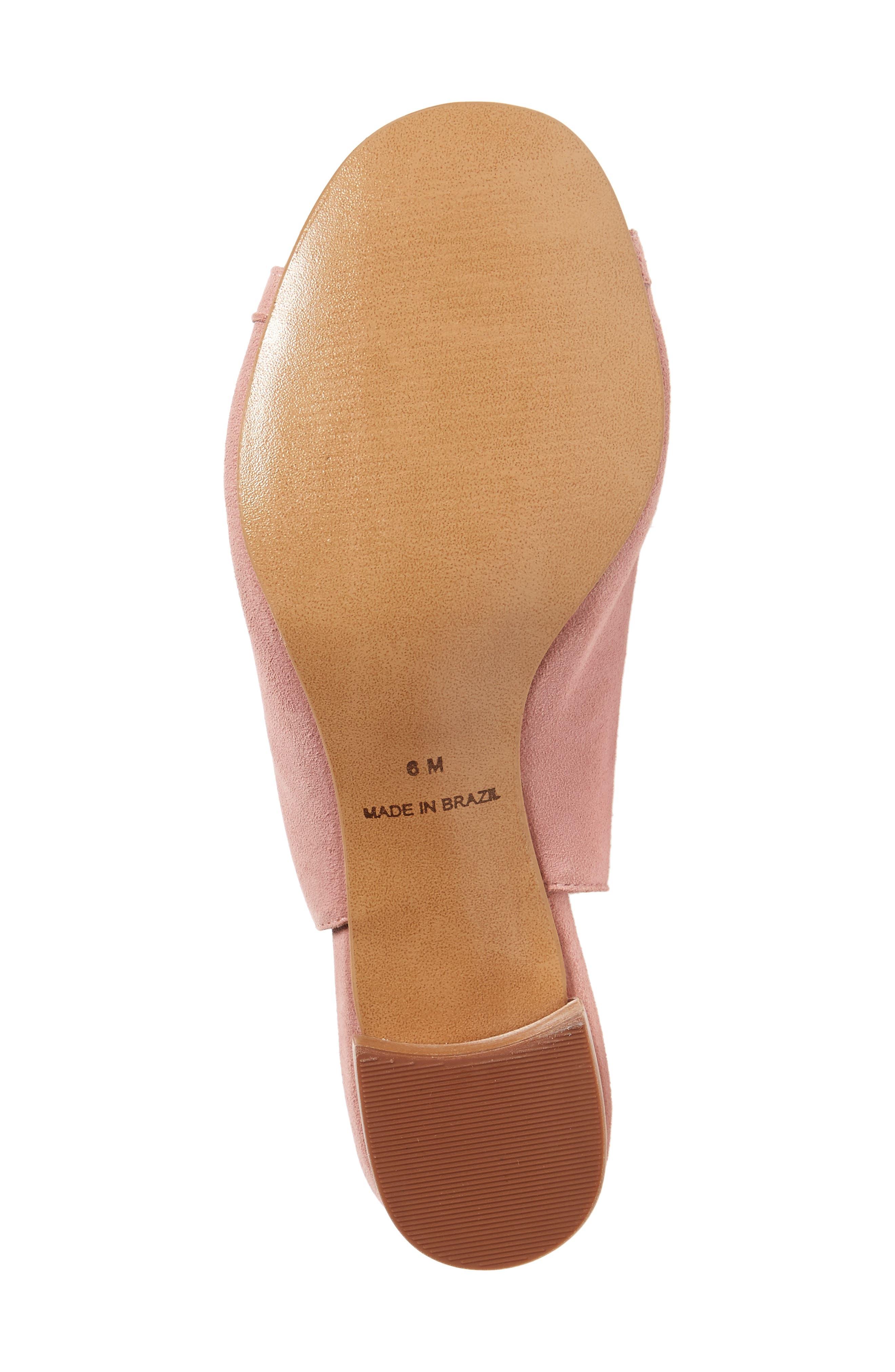 Dallas Woven Sandal,                             Alternate thumbnail 6, color,                             Blush Suede