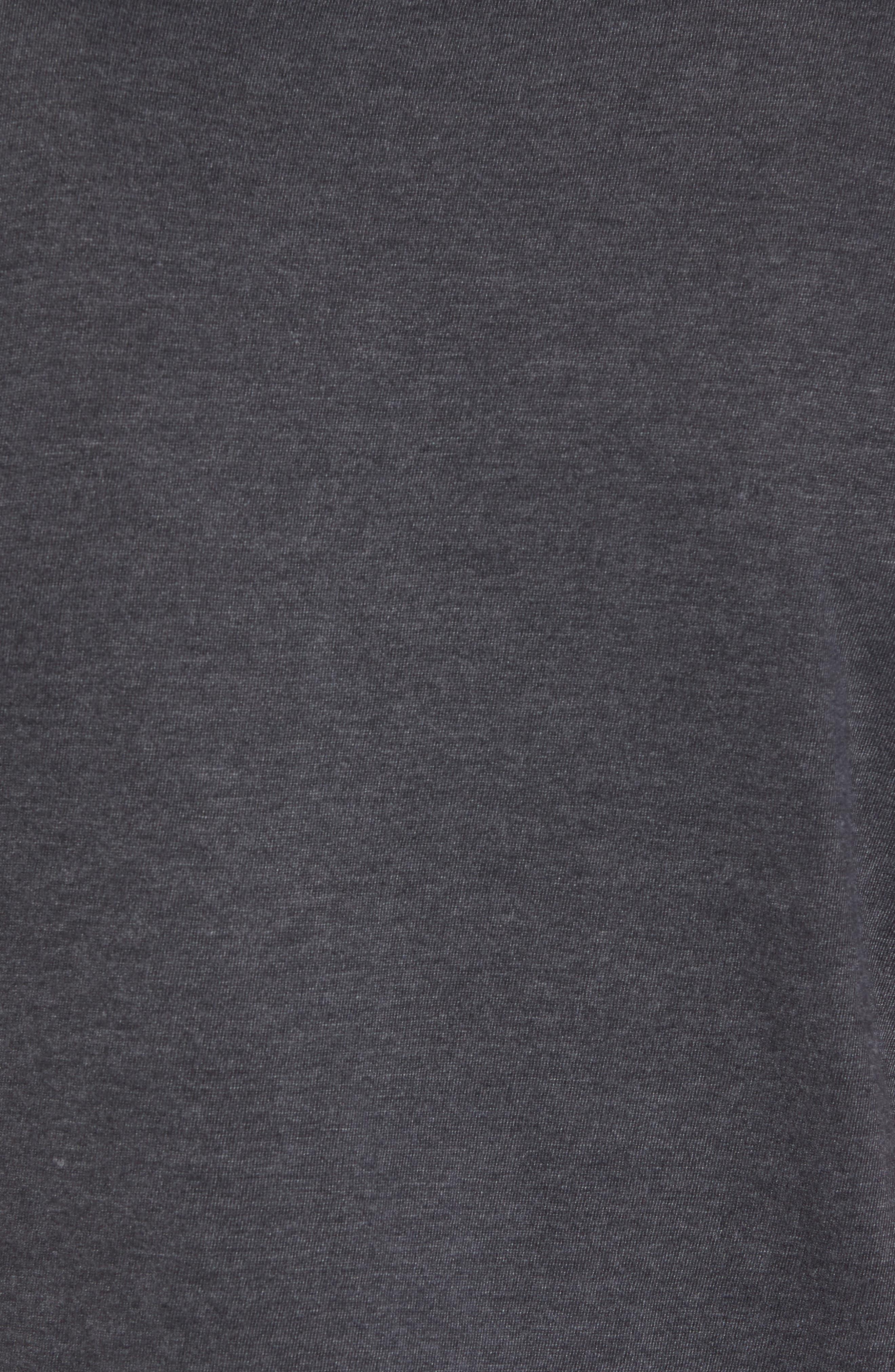 Hillwood San José Sharks Embroidered T-Shirt,                             Alternate thumbnail 5, color,                             Heather Black