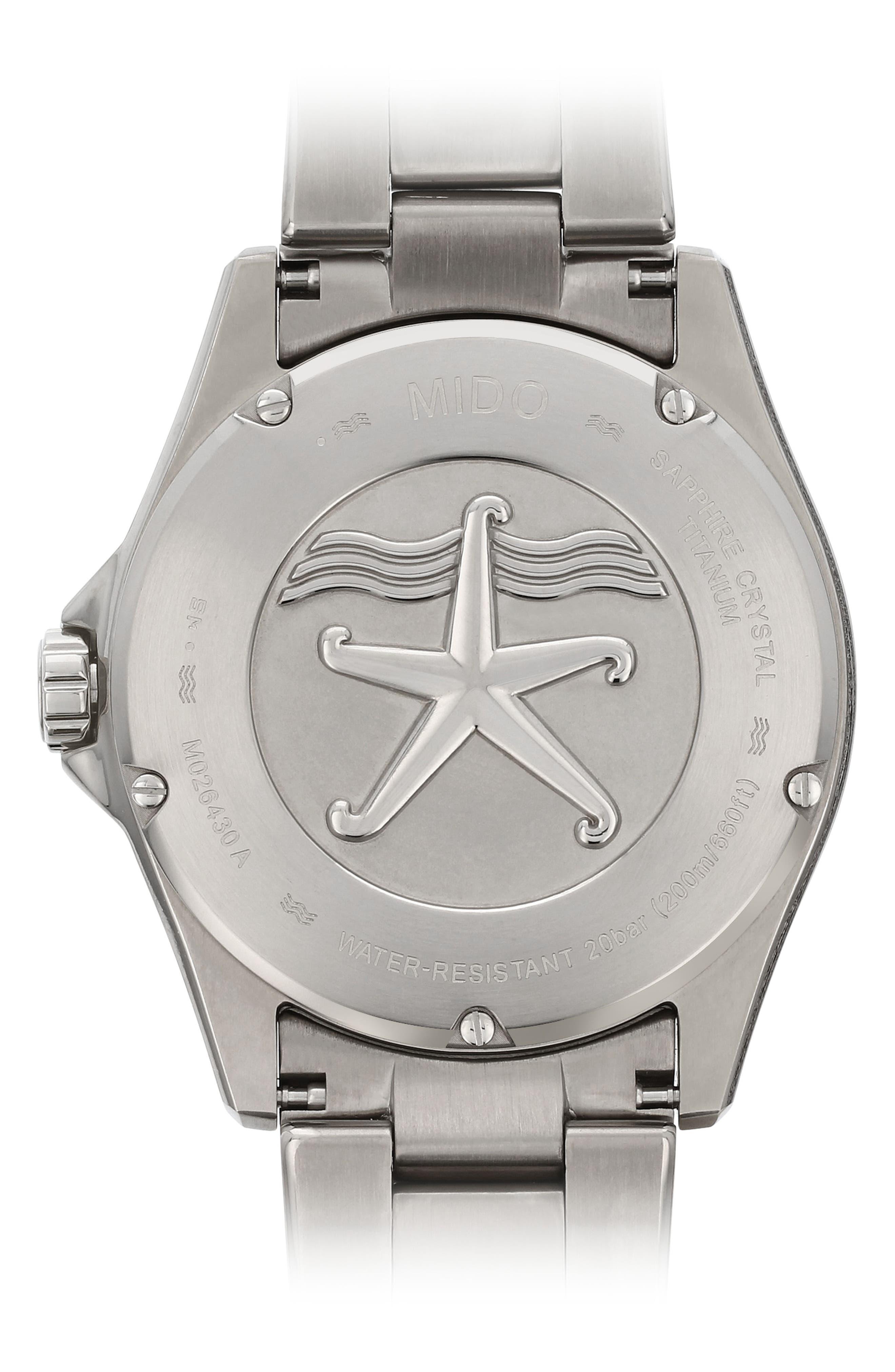 Ocean Star Diver Bracelet Watch, 42mm,                             Alternate thumbnail 2, color,                             Grey