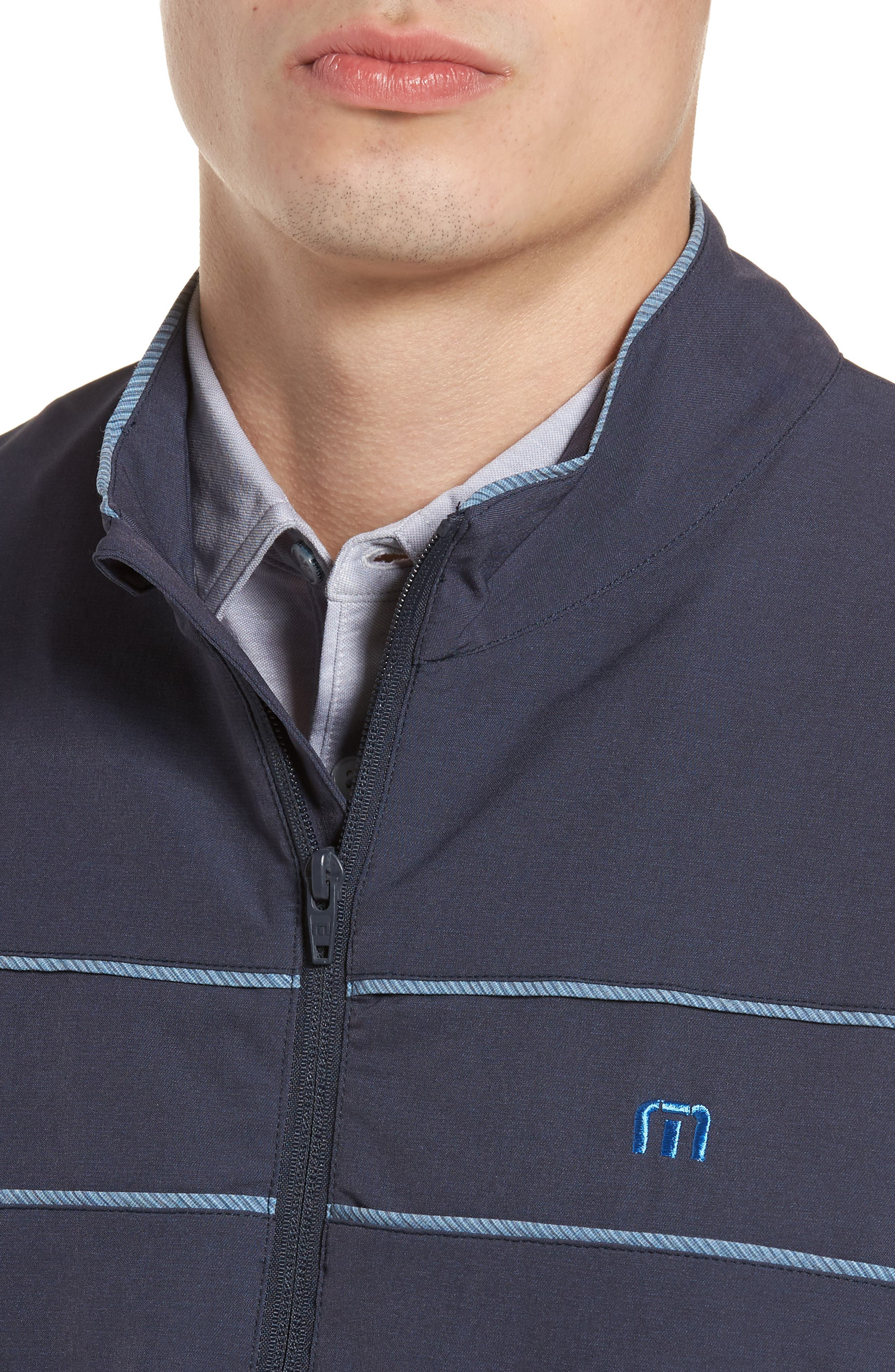 Leon Half Zip Pullover,                             Alternate thumbnail 4, color,                             Blue Nights/ French Blue