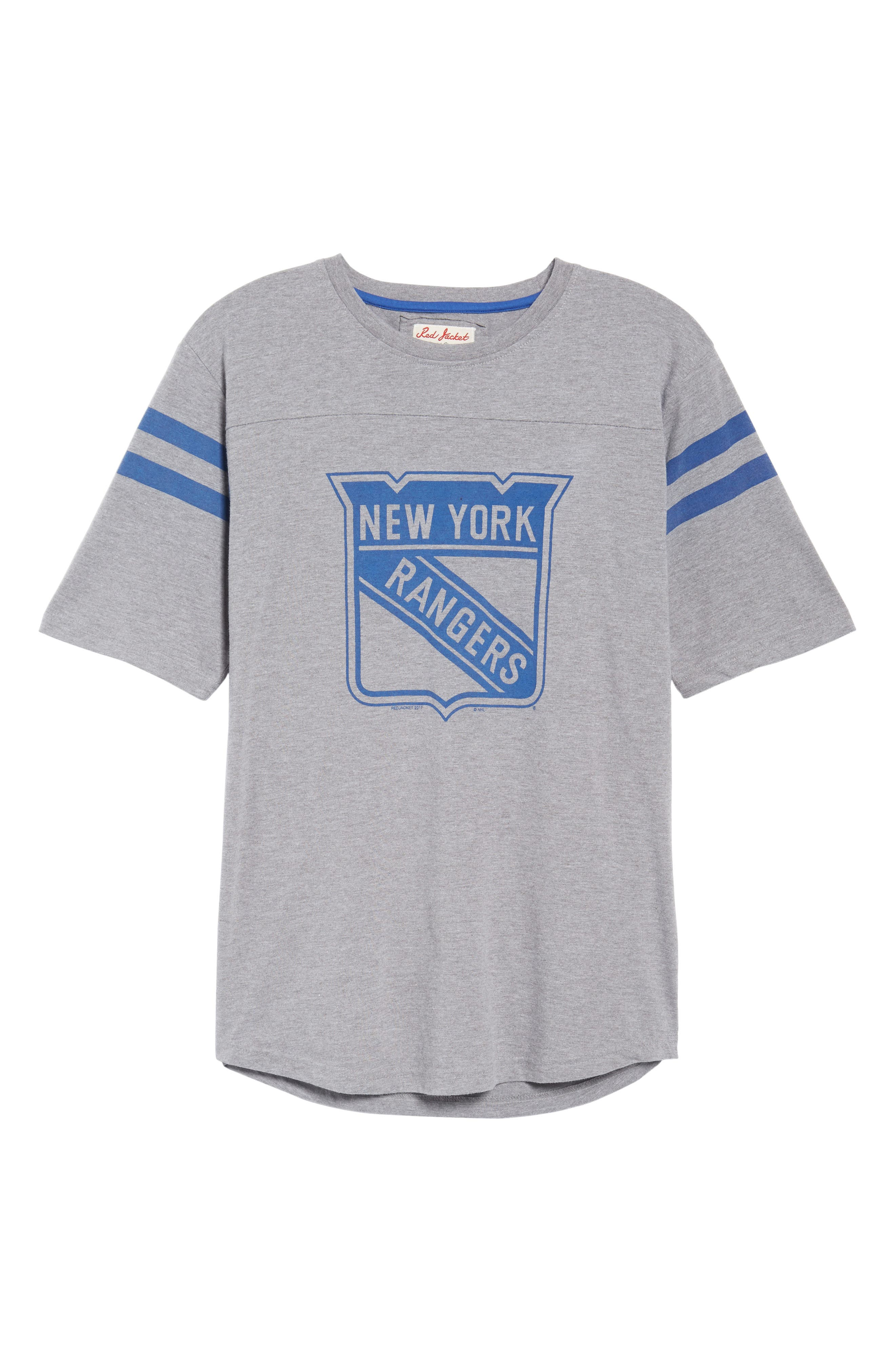 Crosby New York Rangers T-Shirt,                             Alternate thumbnail 6, color,                             Heather Grey