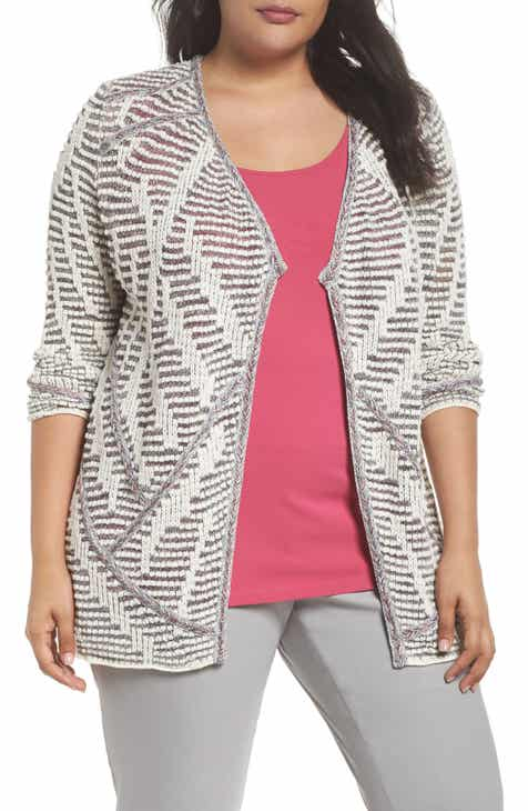 NIC+ZOE Desert Dot Cardigan (Plus Size) by NIC AND ZOE