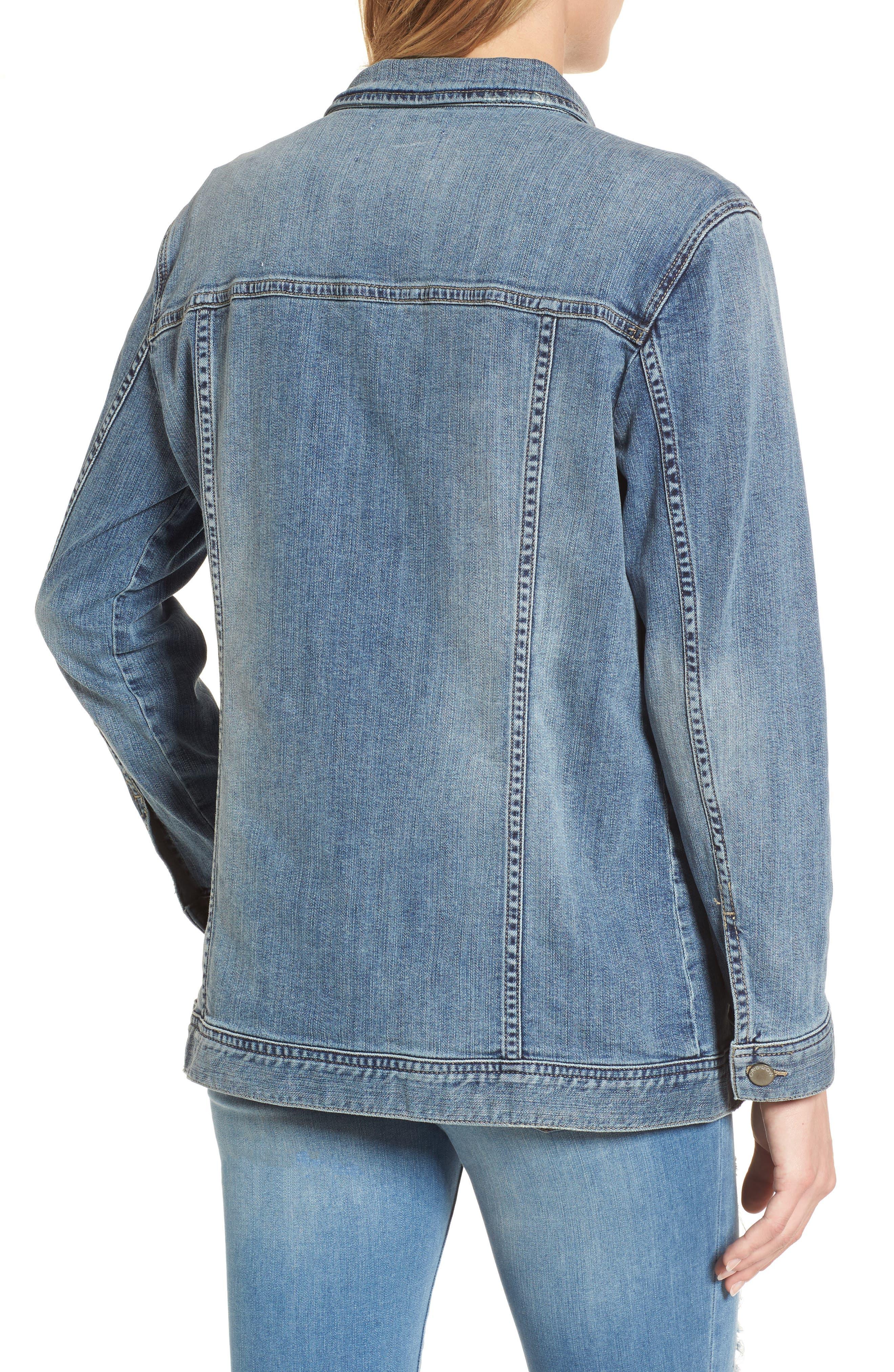 Alternate Image 2  - Caslon® Relaxed Fit Denim Jacket (Regular & Petite)