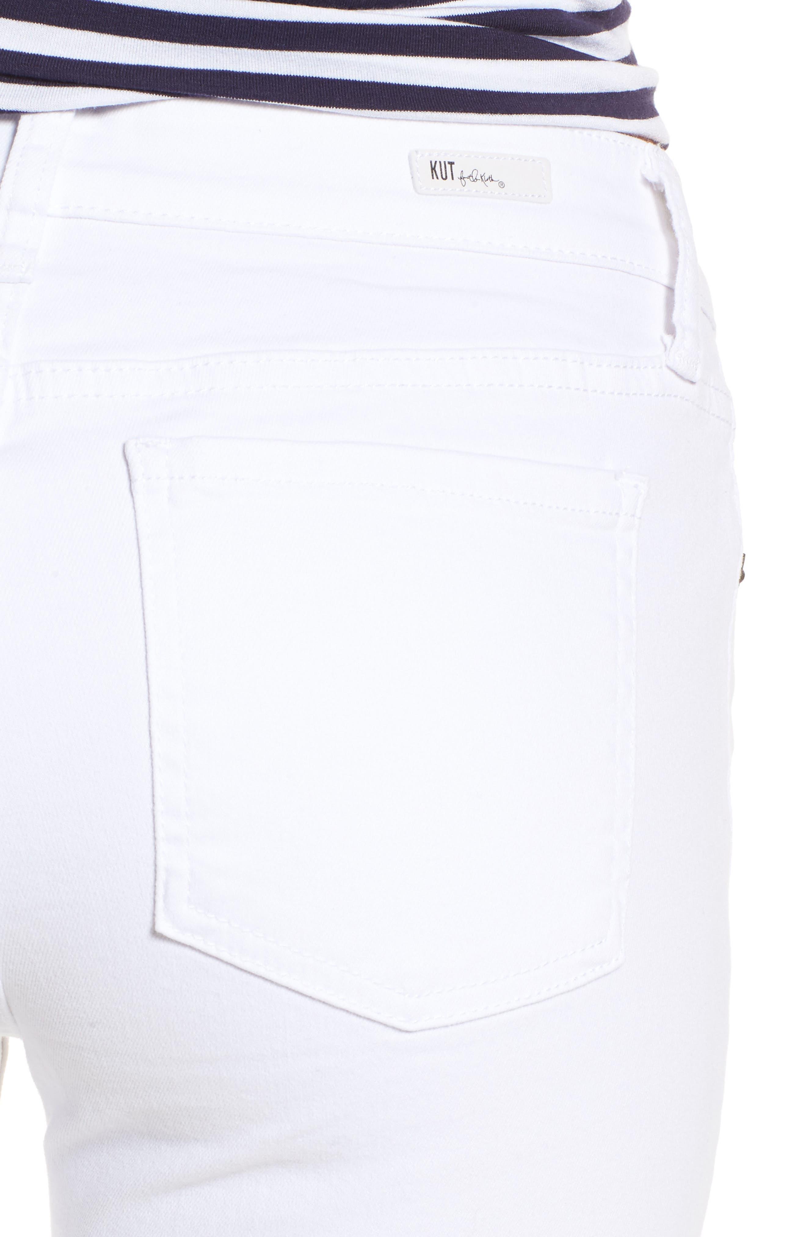 Mia Skinny Jeans,                             Alternate thumbnail 4, color,                             Optic White