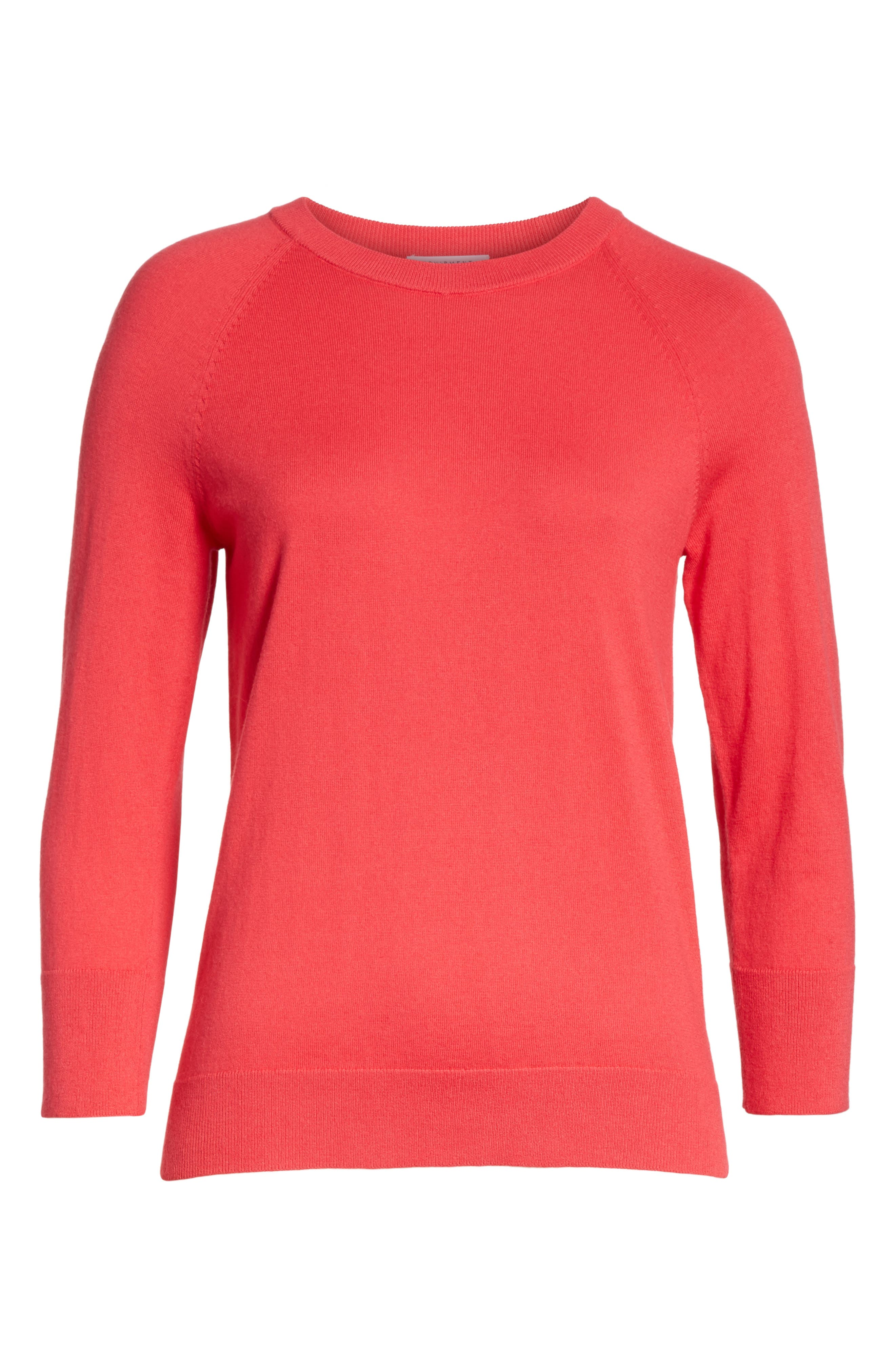 Cotton & Cashmere Sweater,                             Alternate thumbnail 6, color,                             Charged Pink