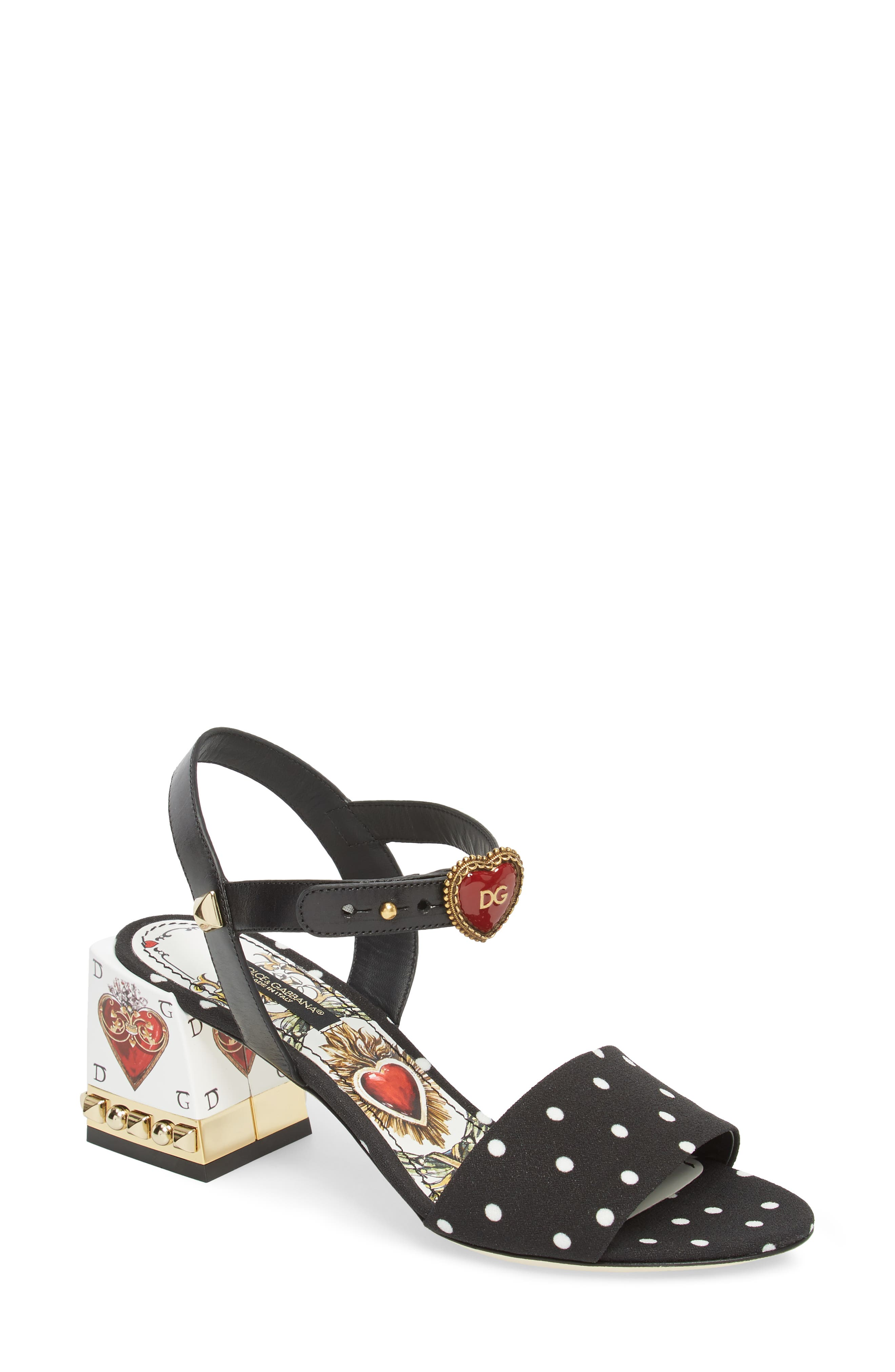 Sacred Heart Sandal,                         Main,                         color, Black