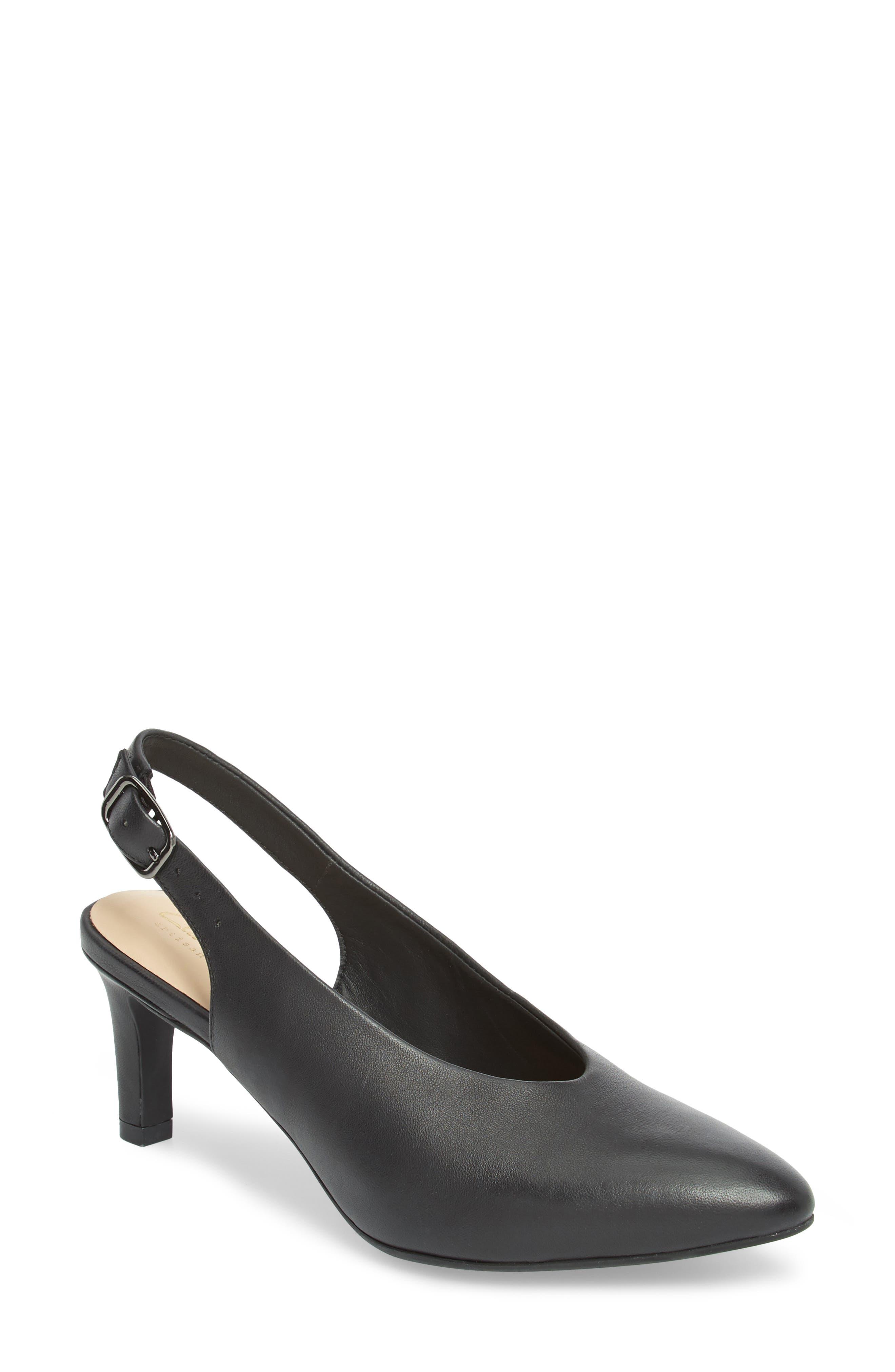 Calla Violet Kitten Heel Pump,                             Main thumbnail 1, color,                             Black Leather