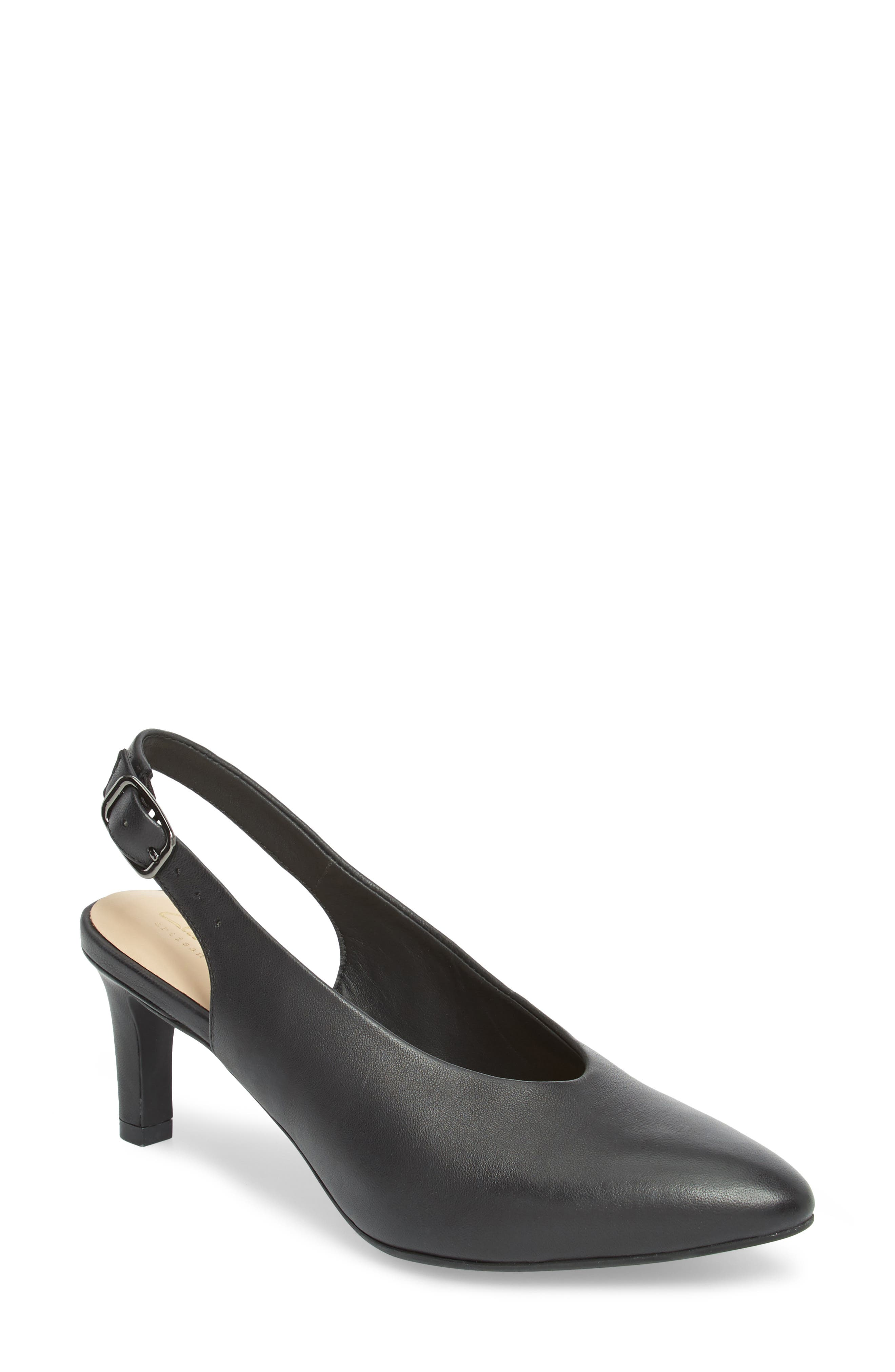 Calla Violet Kitten Heel Pump,                         Main,                         color, Black Leather