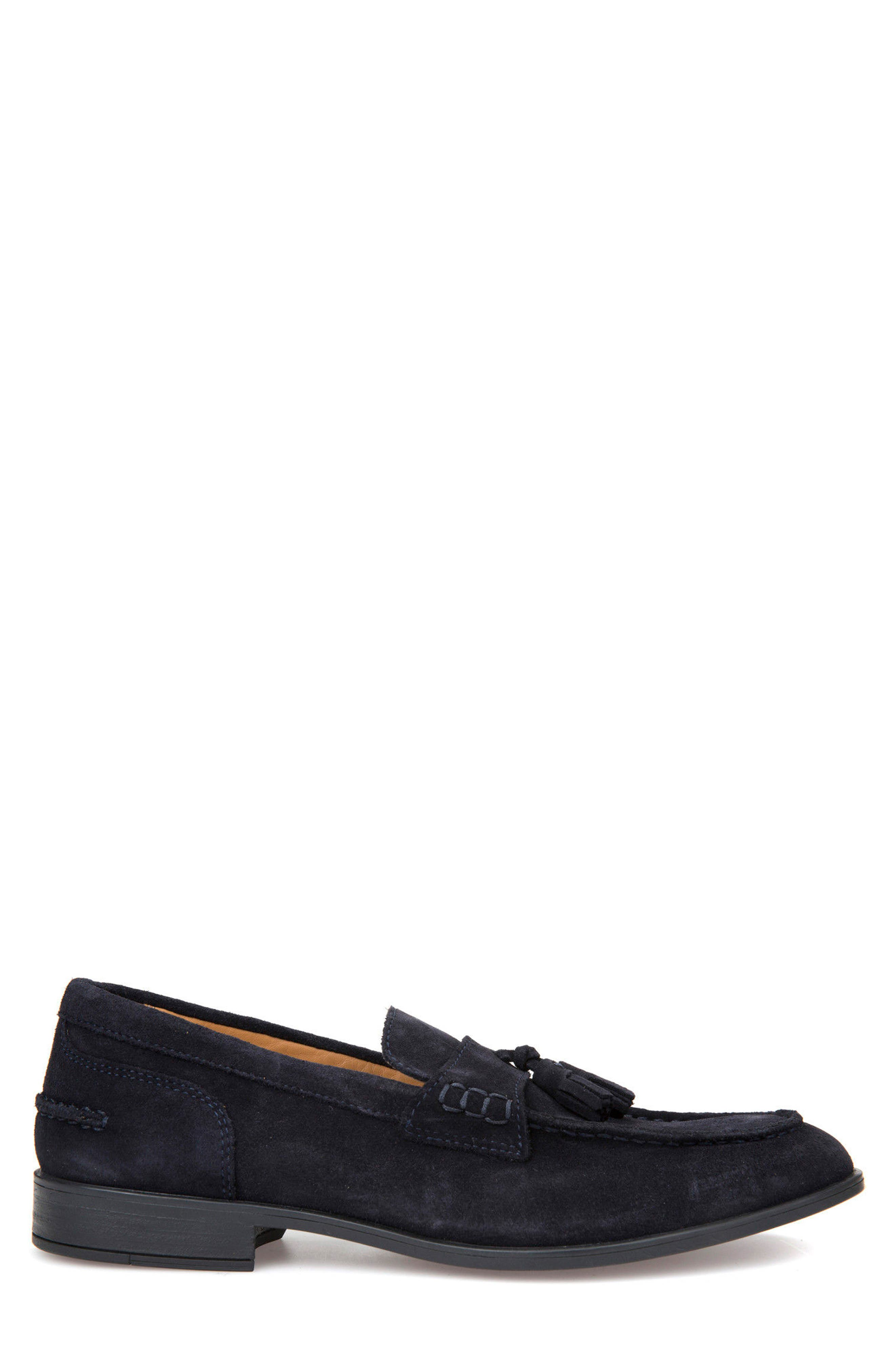 Bryceton 1 Tassel Loafer,                             Alternate thumbnail 3, color,                             Navy Suede