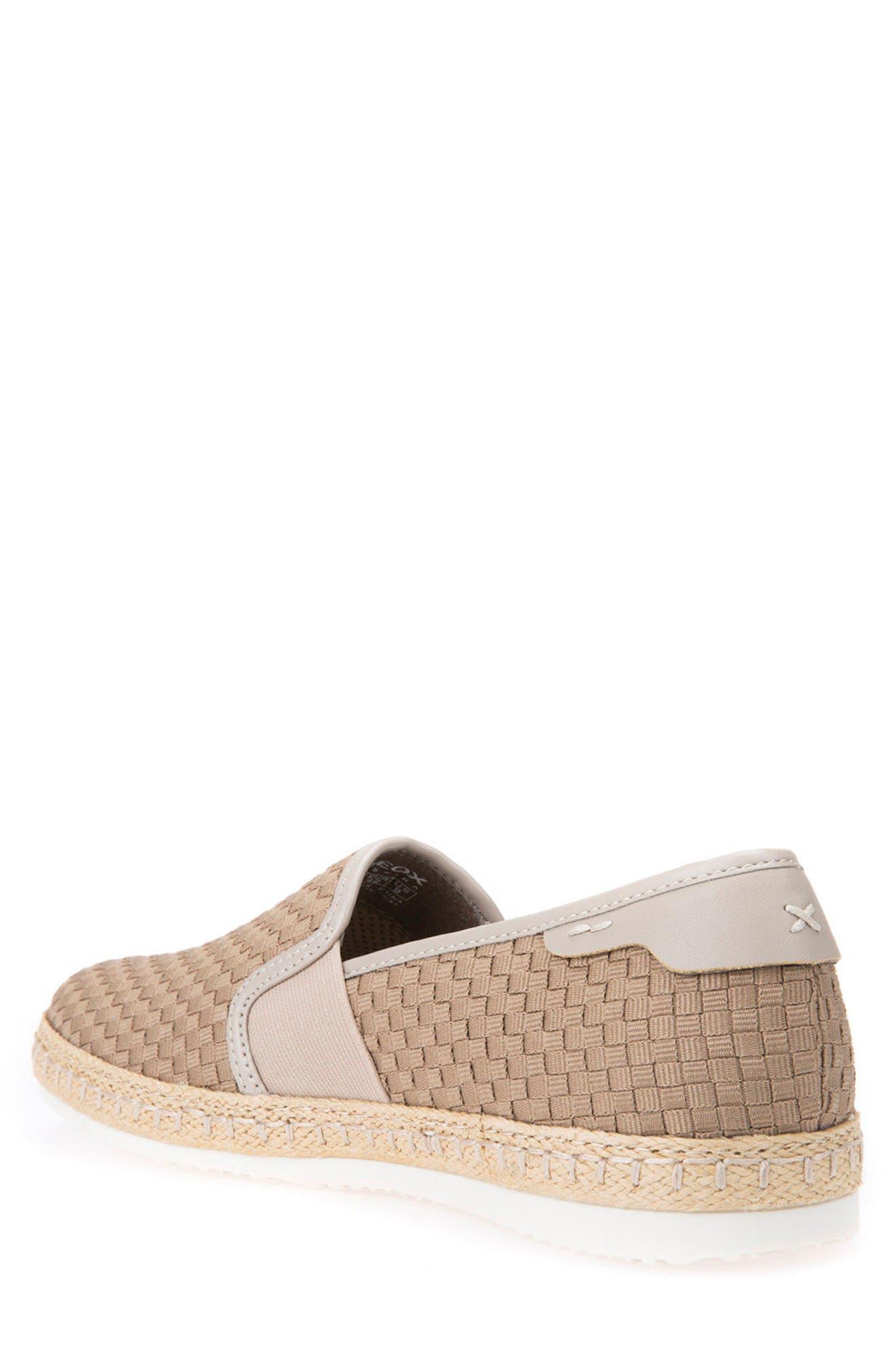 Copacaban 10 Woven Slip-On Sneaker,                             Alternate thumbnail 2, color,                             Sand