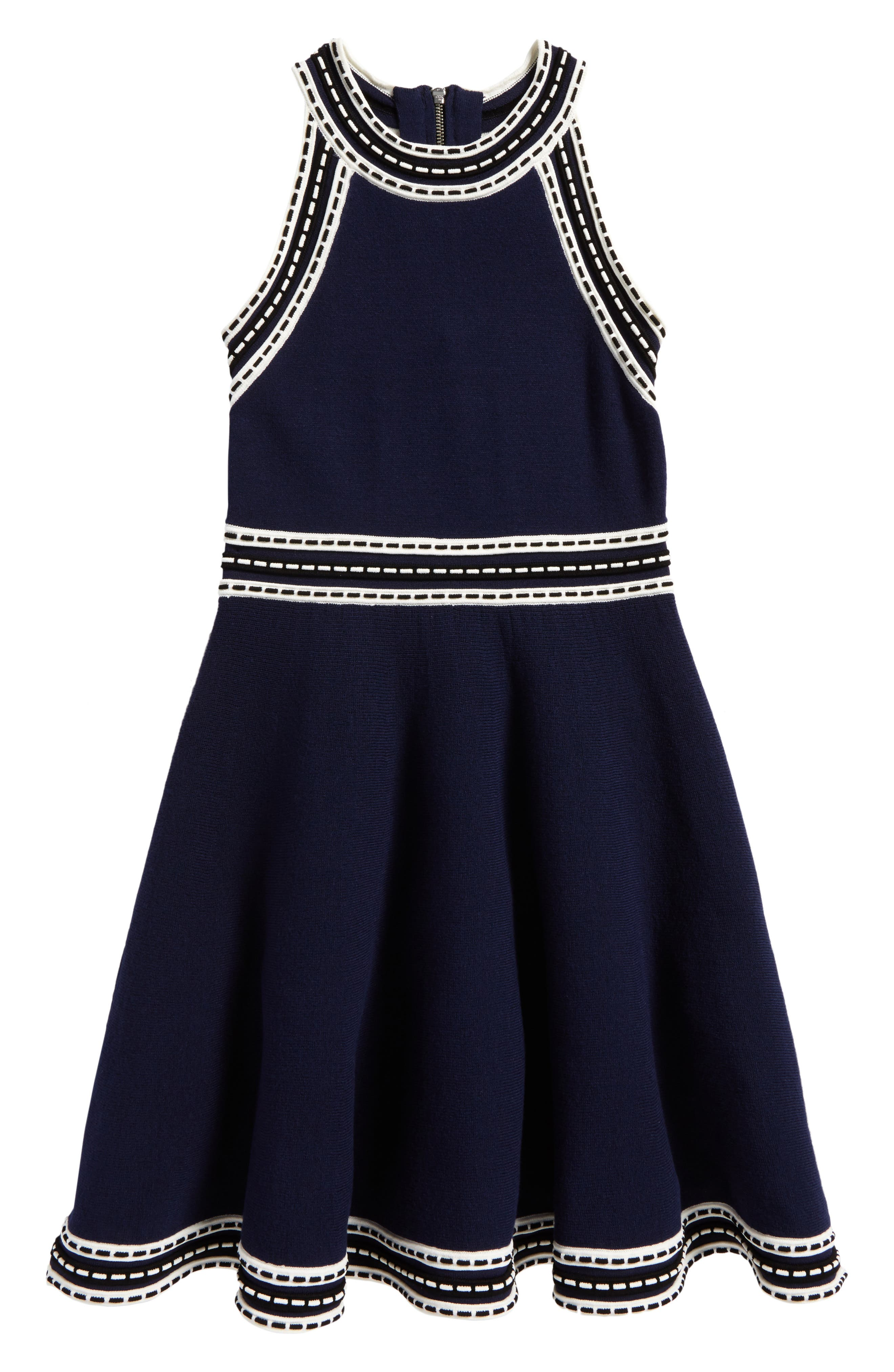 Milly Minis Contrast Trim Sleeveless Dress (Big Girls)