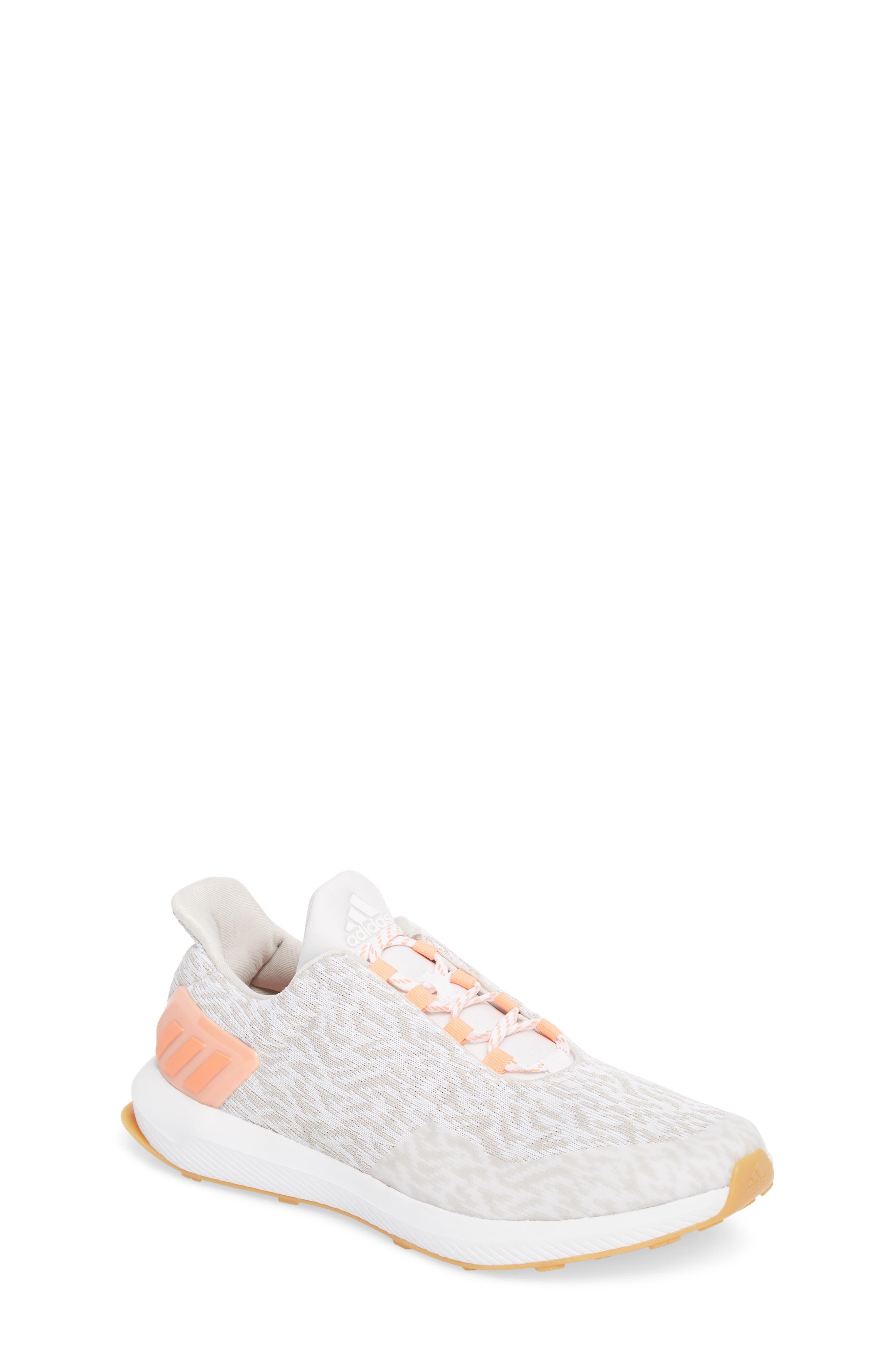 RapidaRun Uncaged Sneaker,                             Main thumbnail 1, color,                             White / Pearl/ Coral