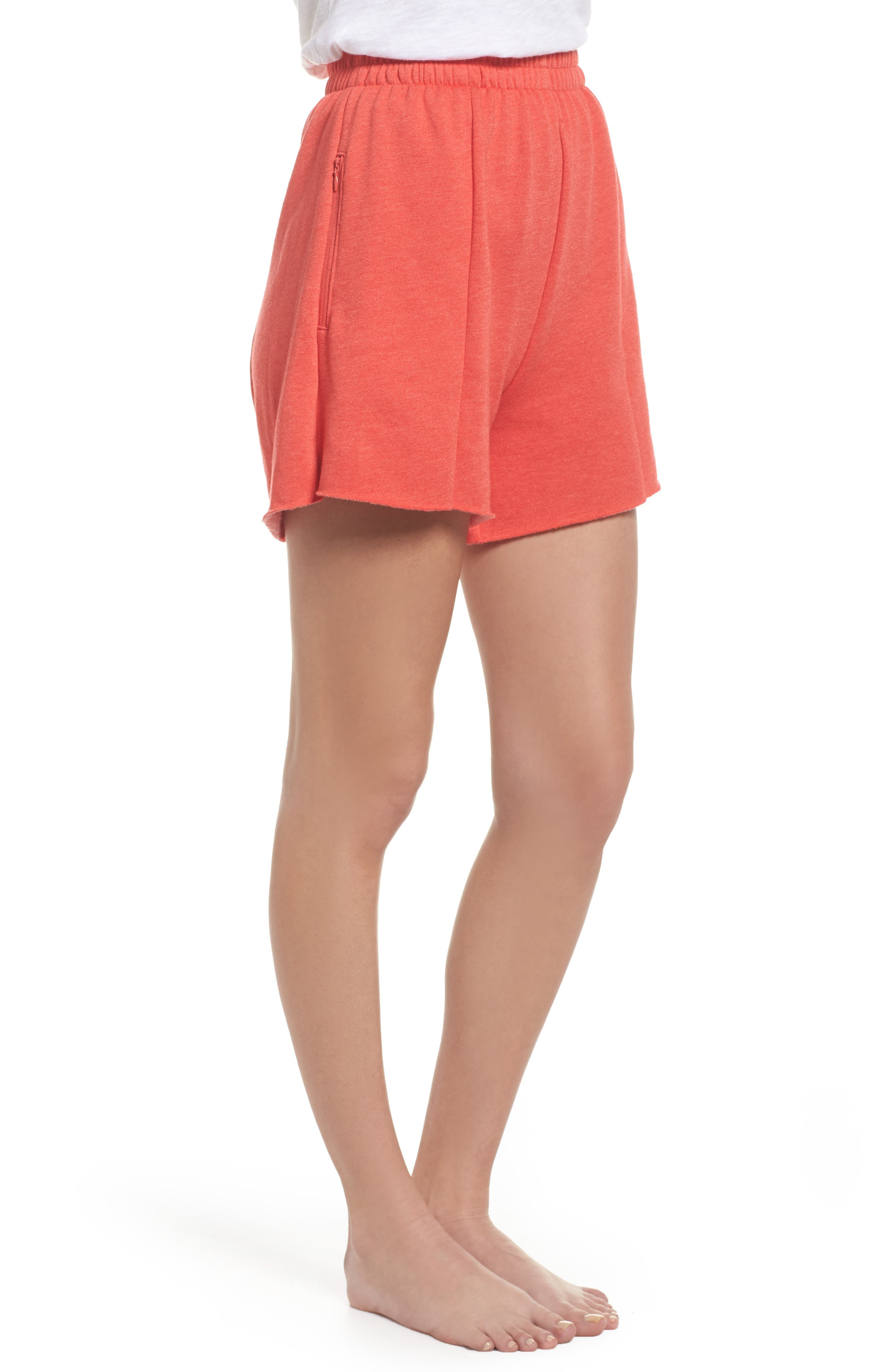 Bermuda Lounge Shorts,                             Alternate thumbnail 3, color,                             Love Red