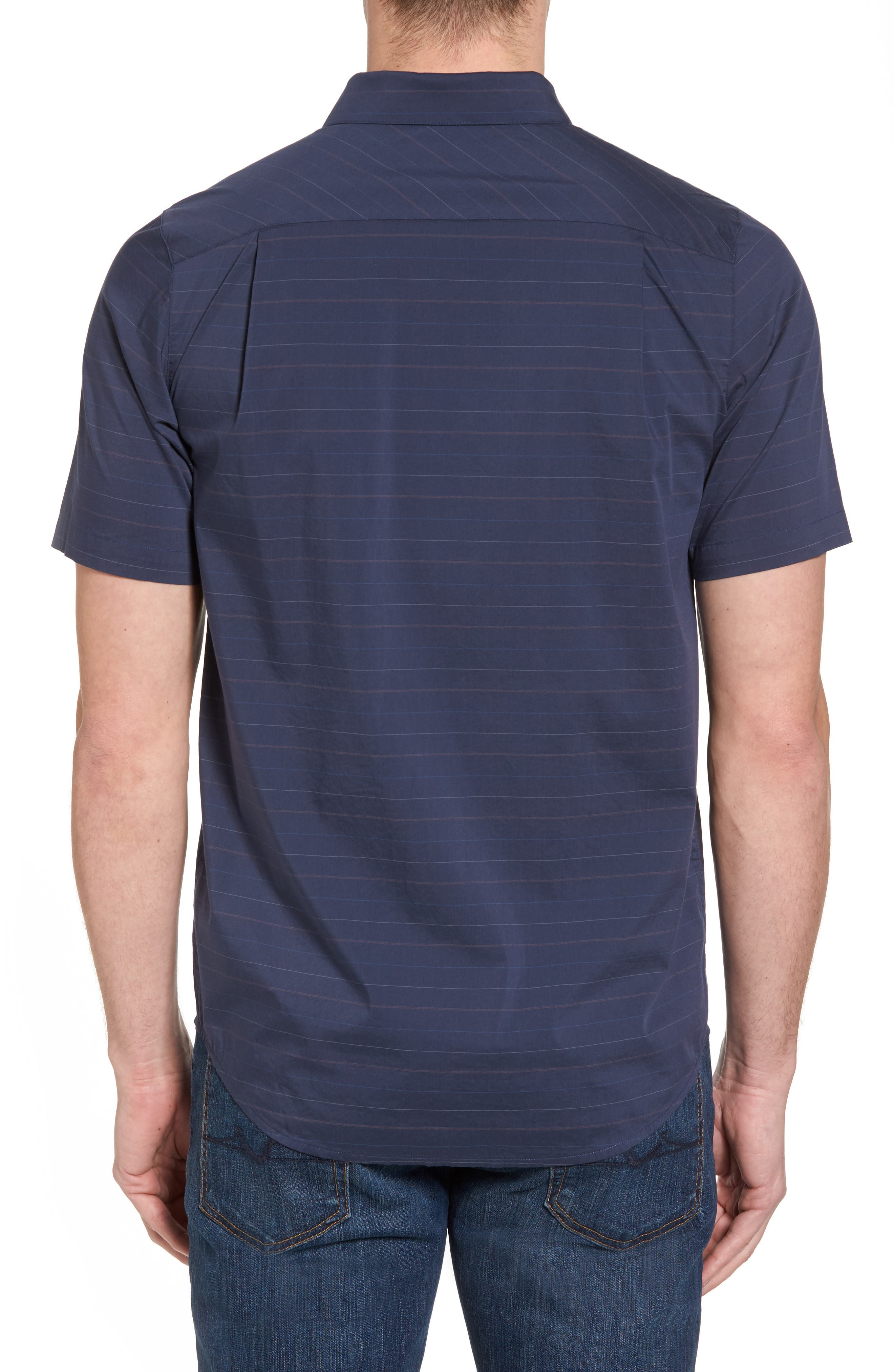 Alternate Image 2  - Travis Mathew Linear Slim Fit Sport Shirt