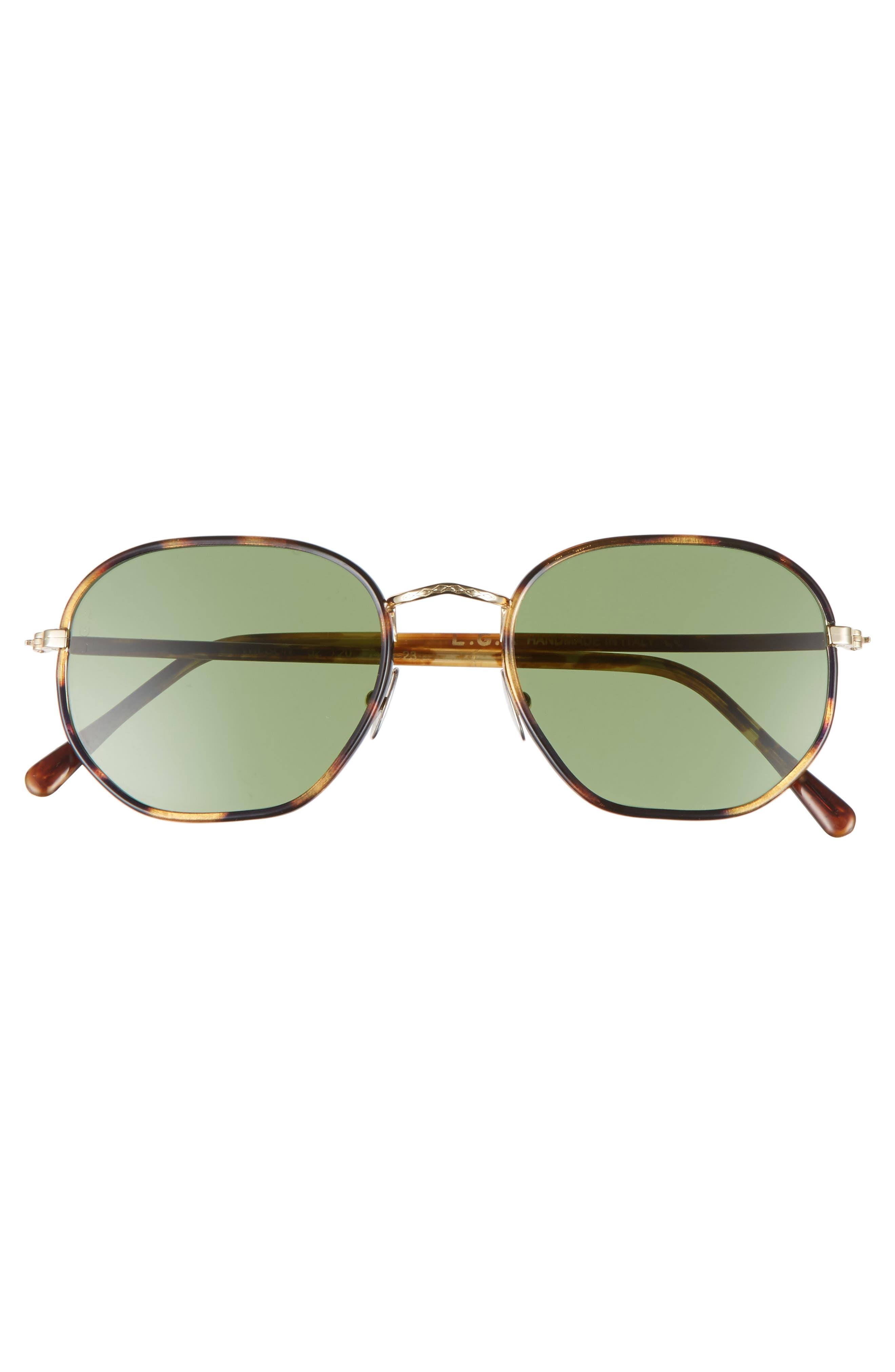 Wilson 52mm Sunglasses,                             Alternate thumbnail 2, color,                             Havana Tartarugato/ Green