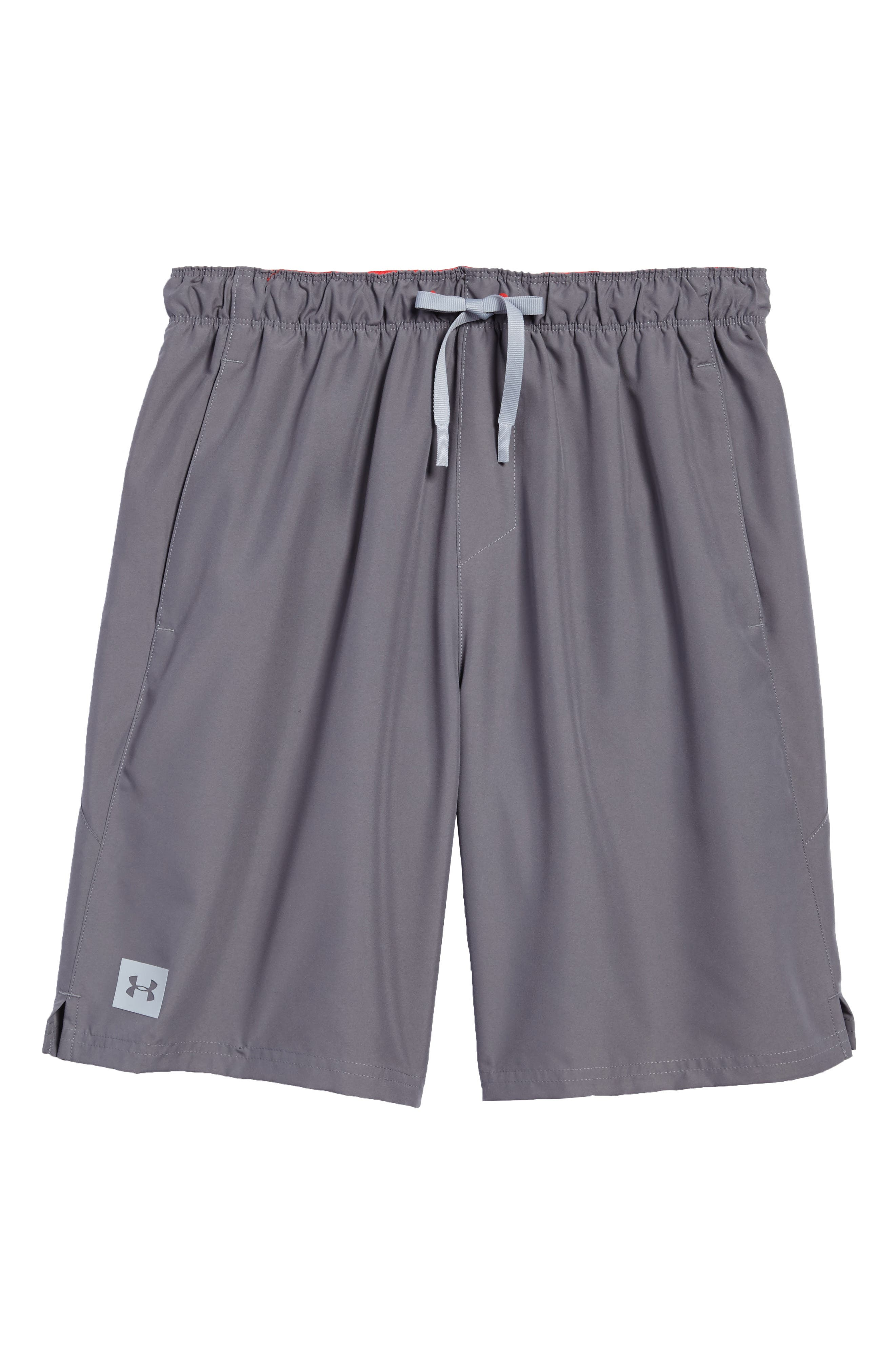 Mania Athletic Shorts,                             Alternate thumbnail 6, color,                             Graphite / Pierce / Grey