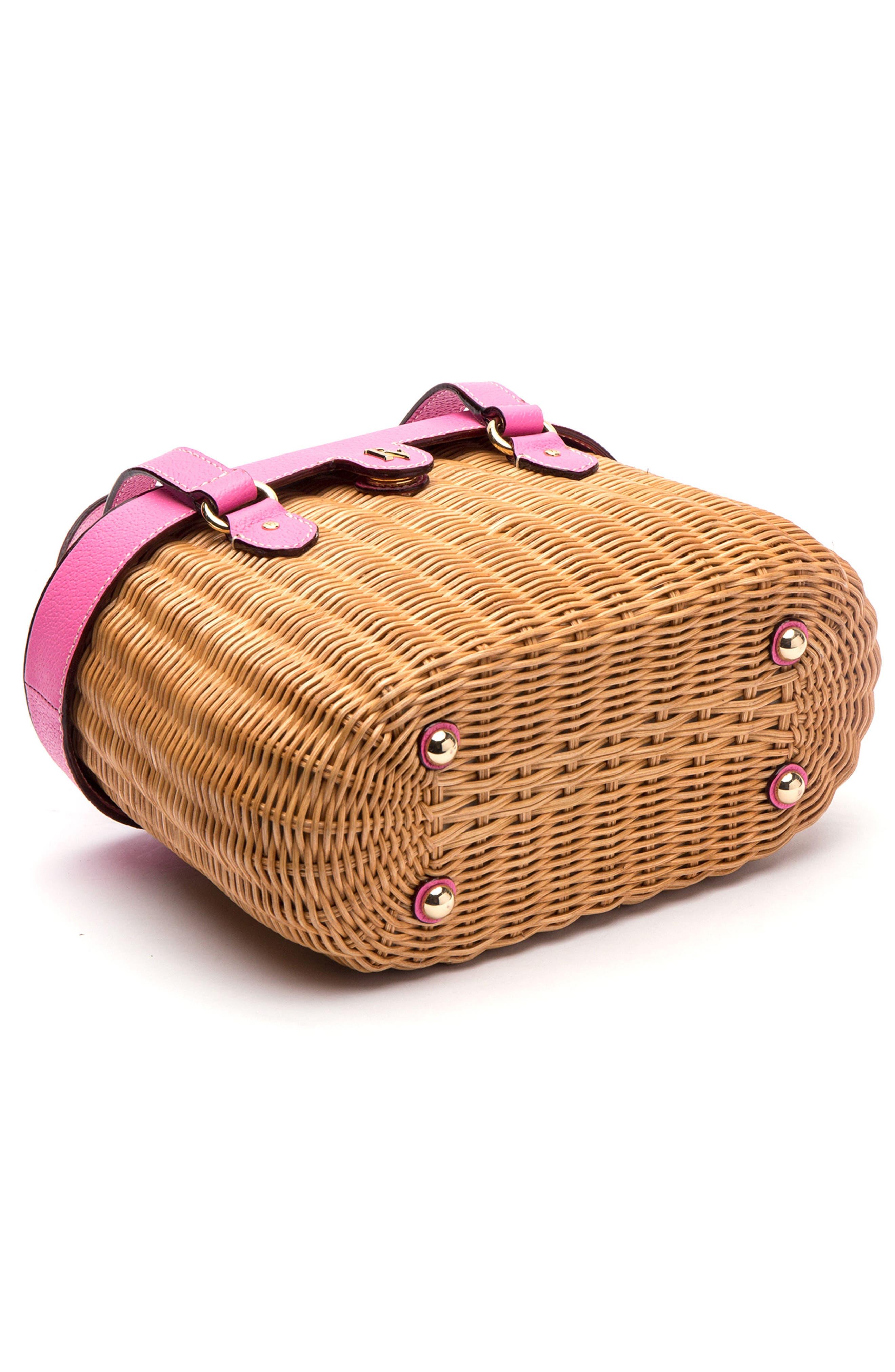 Alternate Image 4  - Frances Valentine Wicker Basket Shoulder Bag