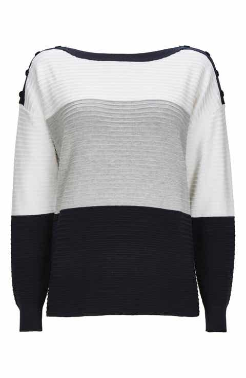 Wallis Colorblock Ottoman Knit Sweater