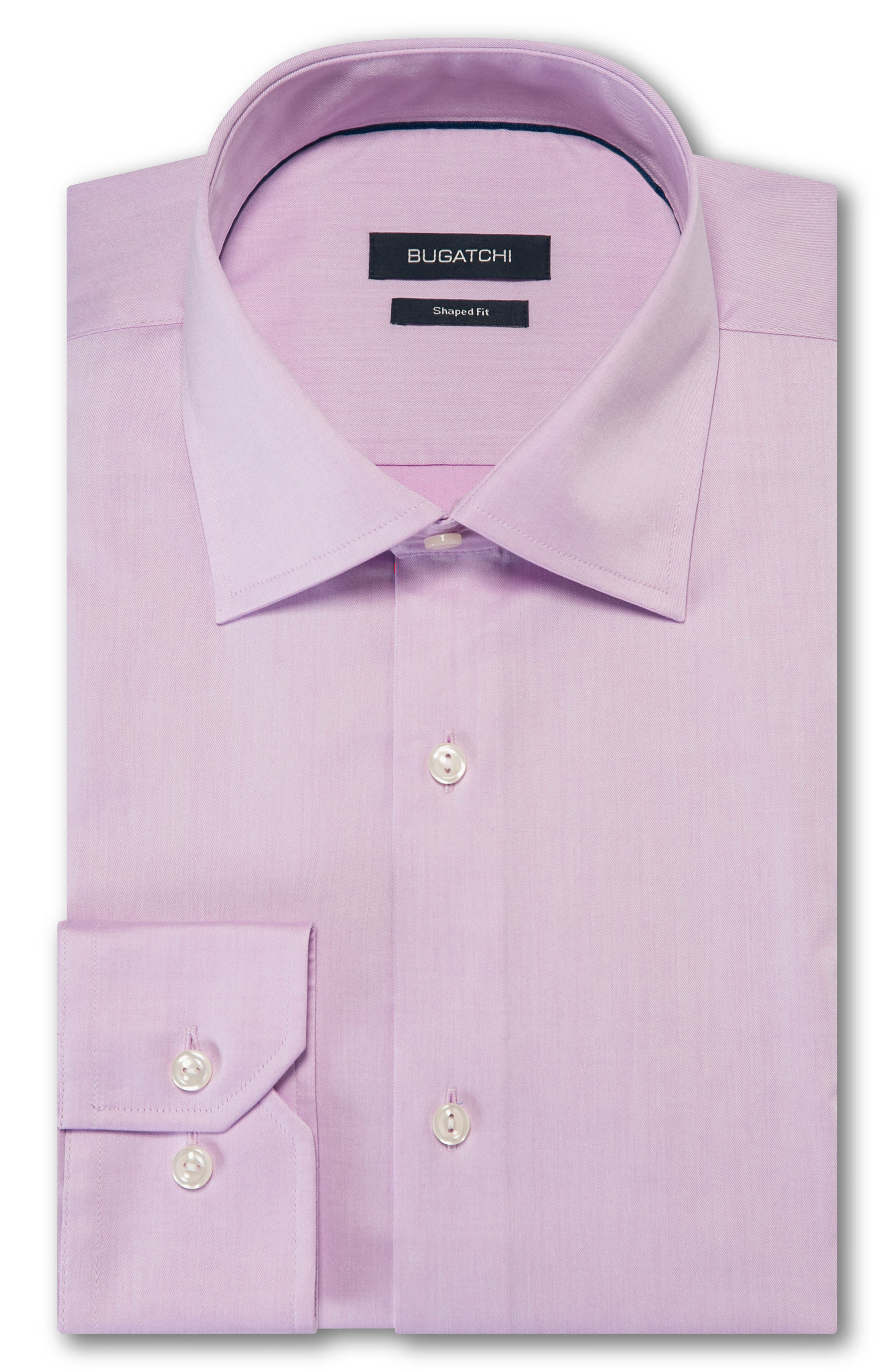 Trim Fit Solid Dress Shirt,                         Main,                         color, Pink