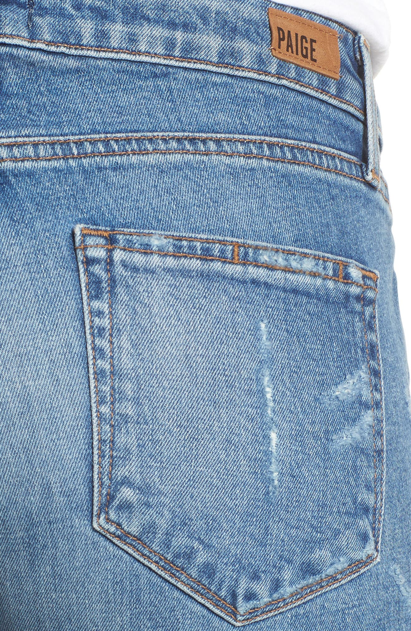 Transcend Vintage - Noella Straight Leg Jeans,                             Alternate thumbnail 6, color,                             Iola