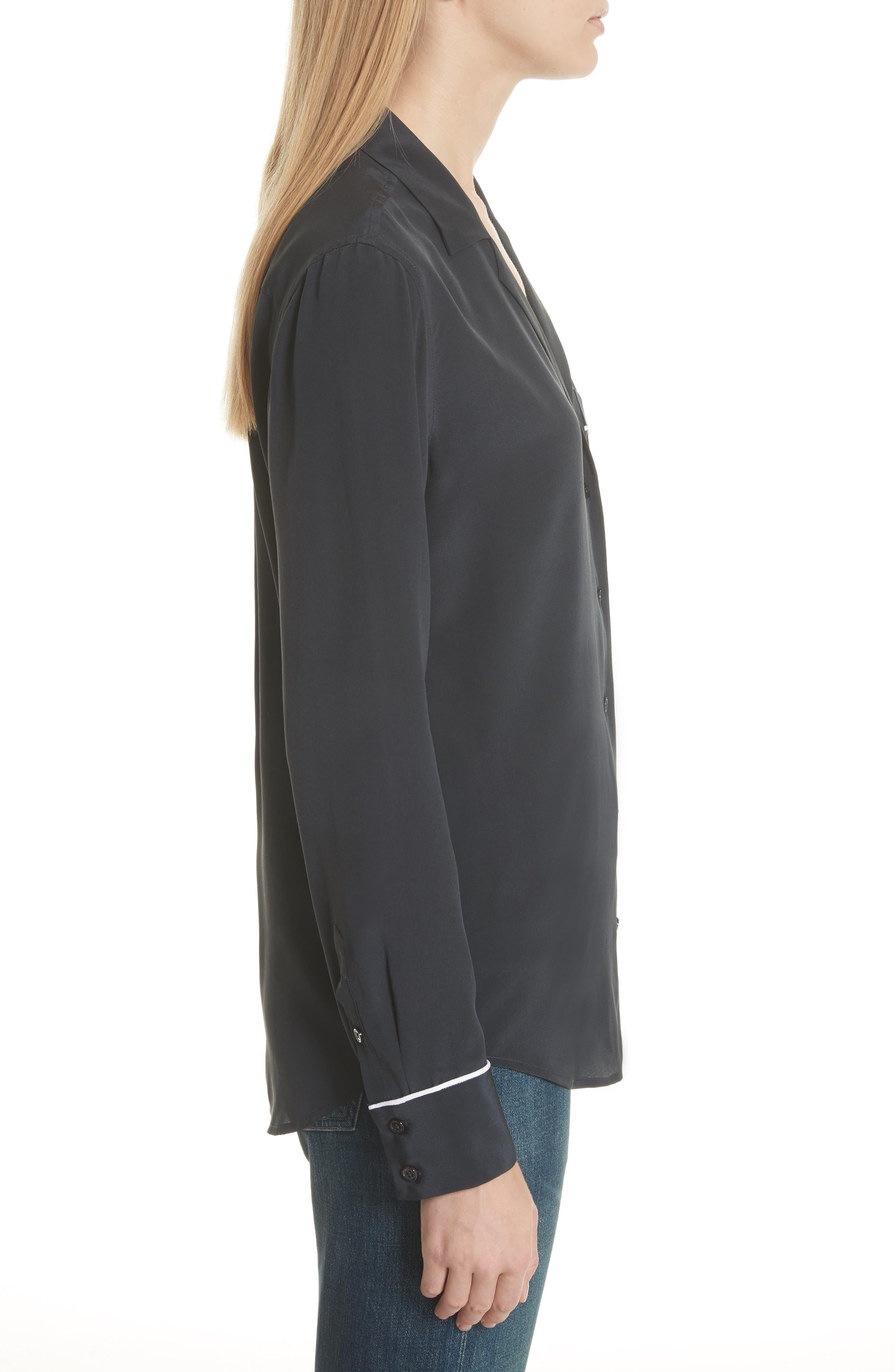 Alternate Image 3  - Equipment Keira Piped Silk Shirt