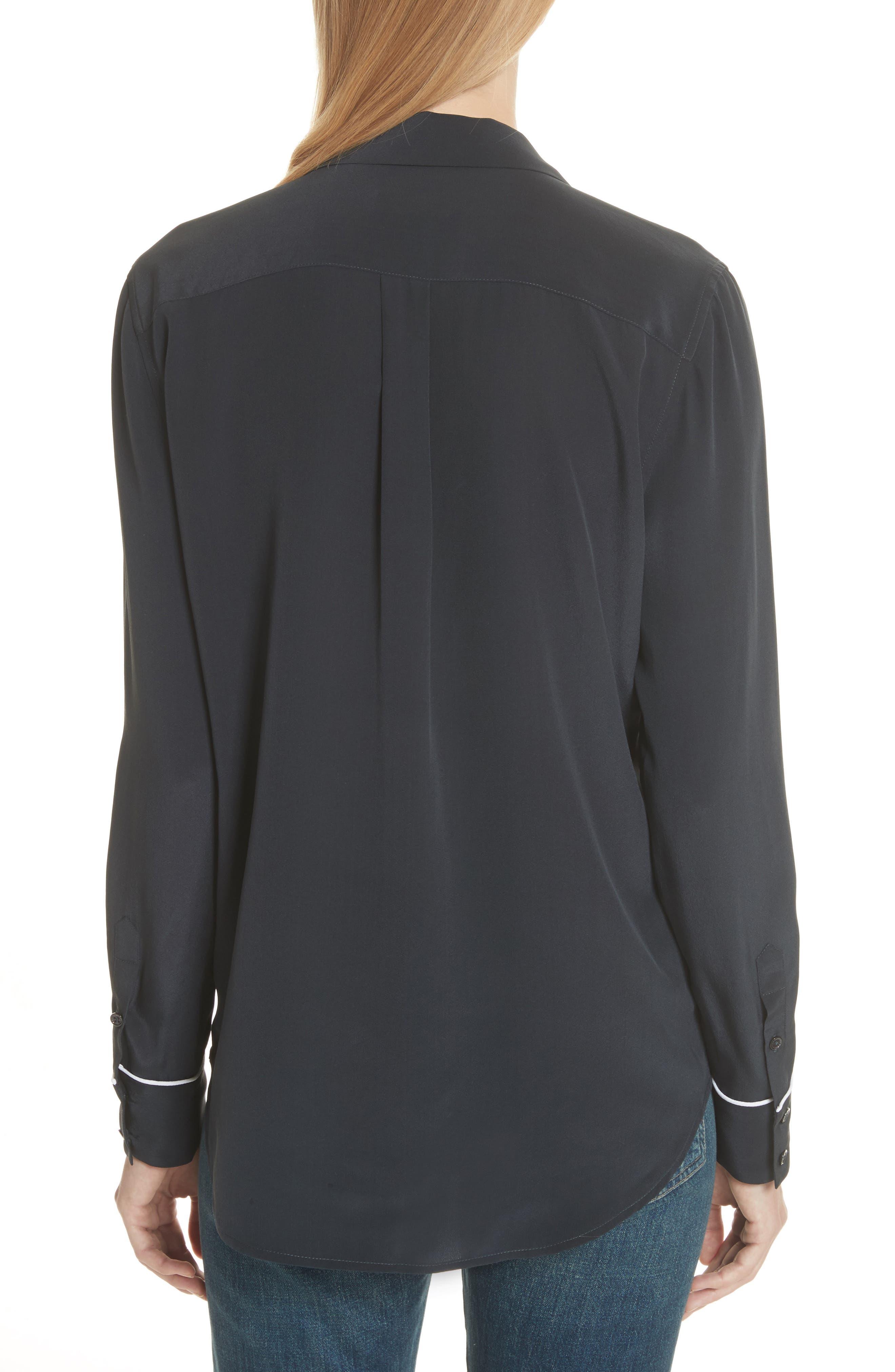 Alternate Image 2  - Equipment Keira Piped Silk Shirt