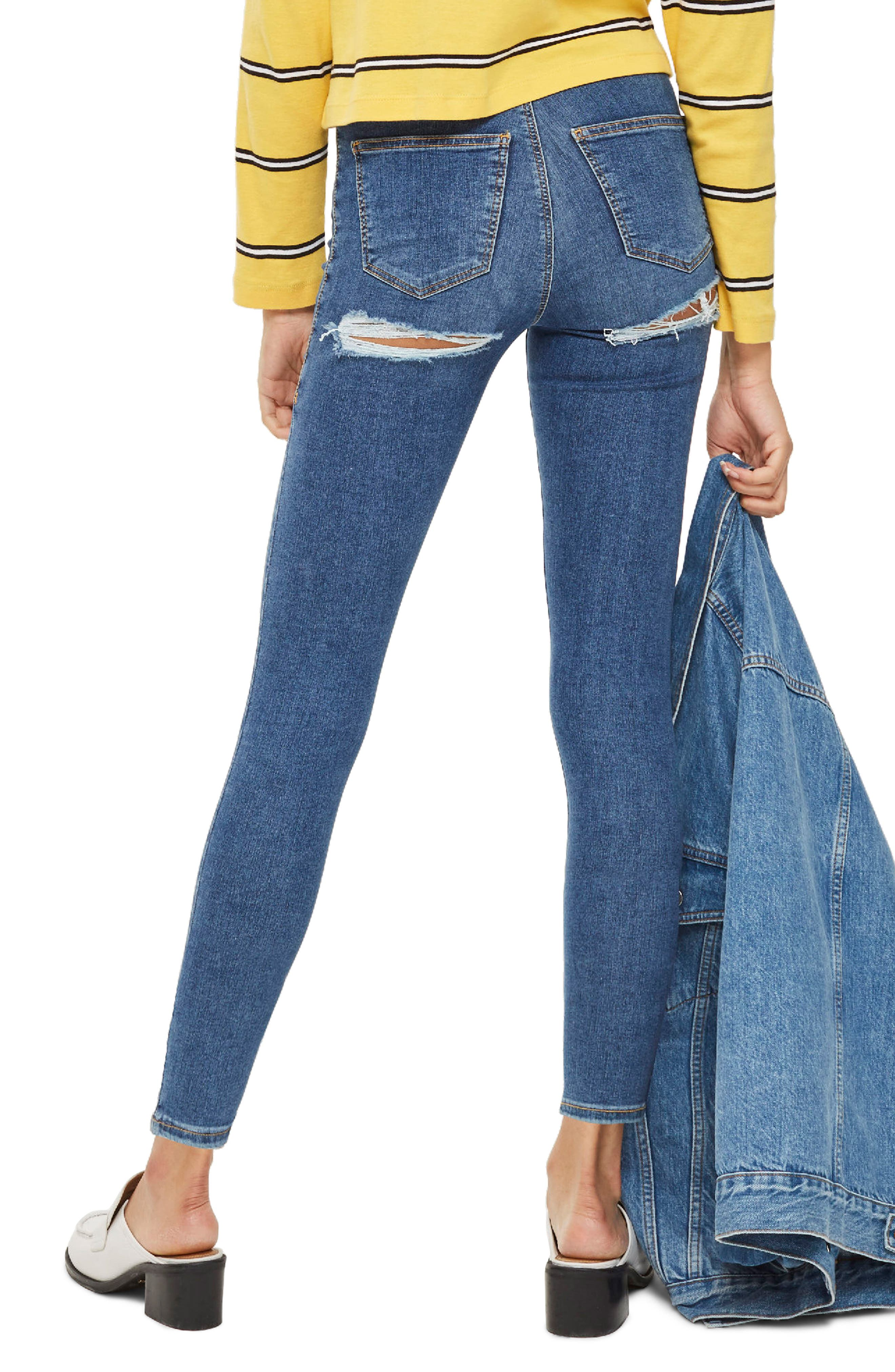Joni Distressed Skinny Jeans,                             Alternate thumbnail 2, color,                             Mid Denim