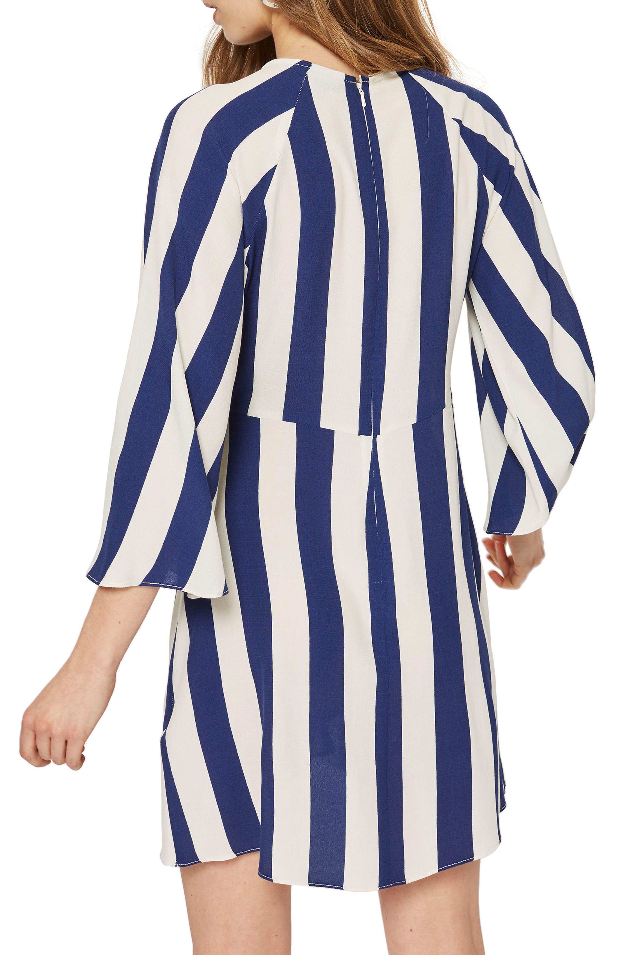 Humbug Stripe Knot Dress,                             Alternate thumbnail 2, color,                             Blue Multi