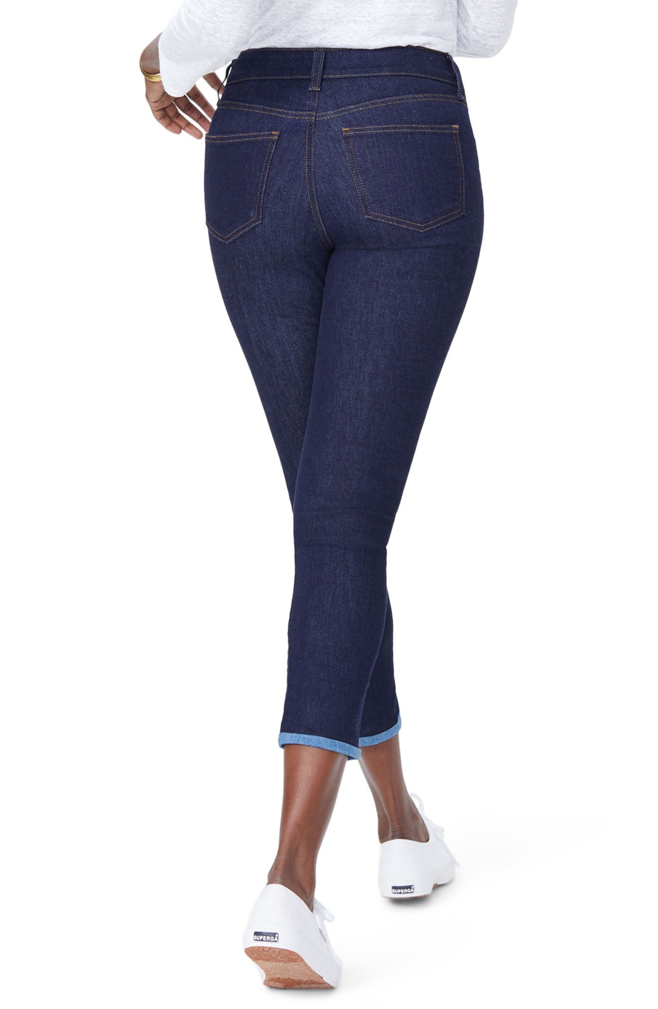 Alina Ankle Skinny Jeans,                             Alternate thumbnail 2, color,                             Rinse
