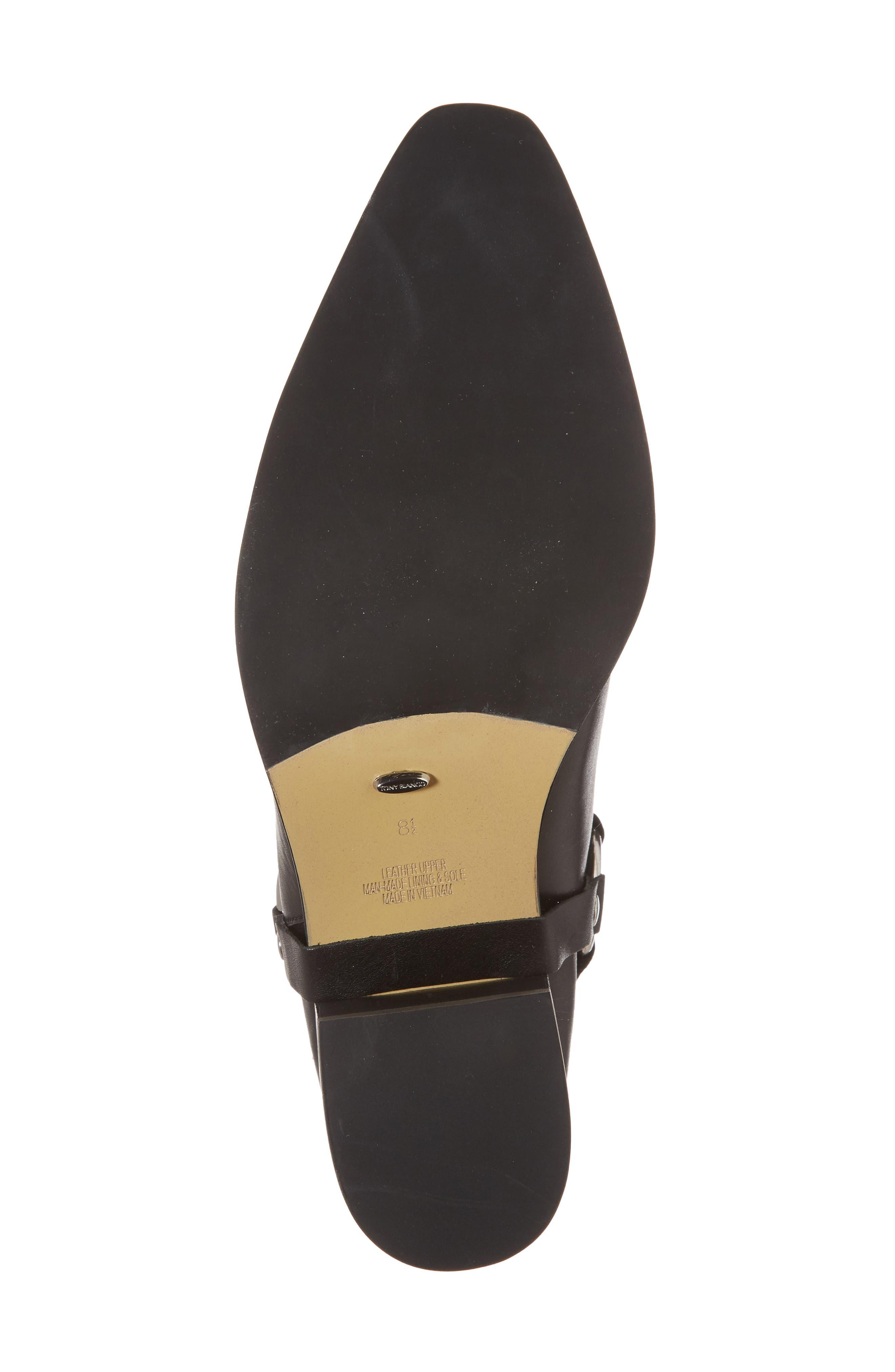 Sabana Engineer Boot,                             Alternate thumbnail 6, color,                             Black Albany Leather