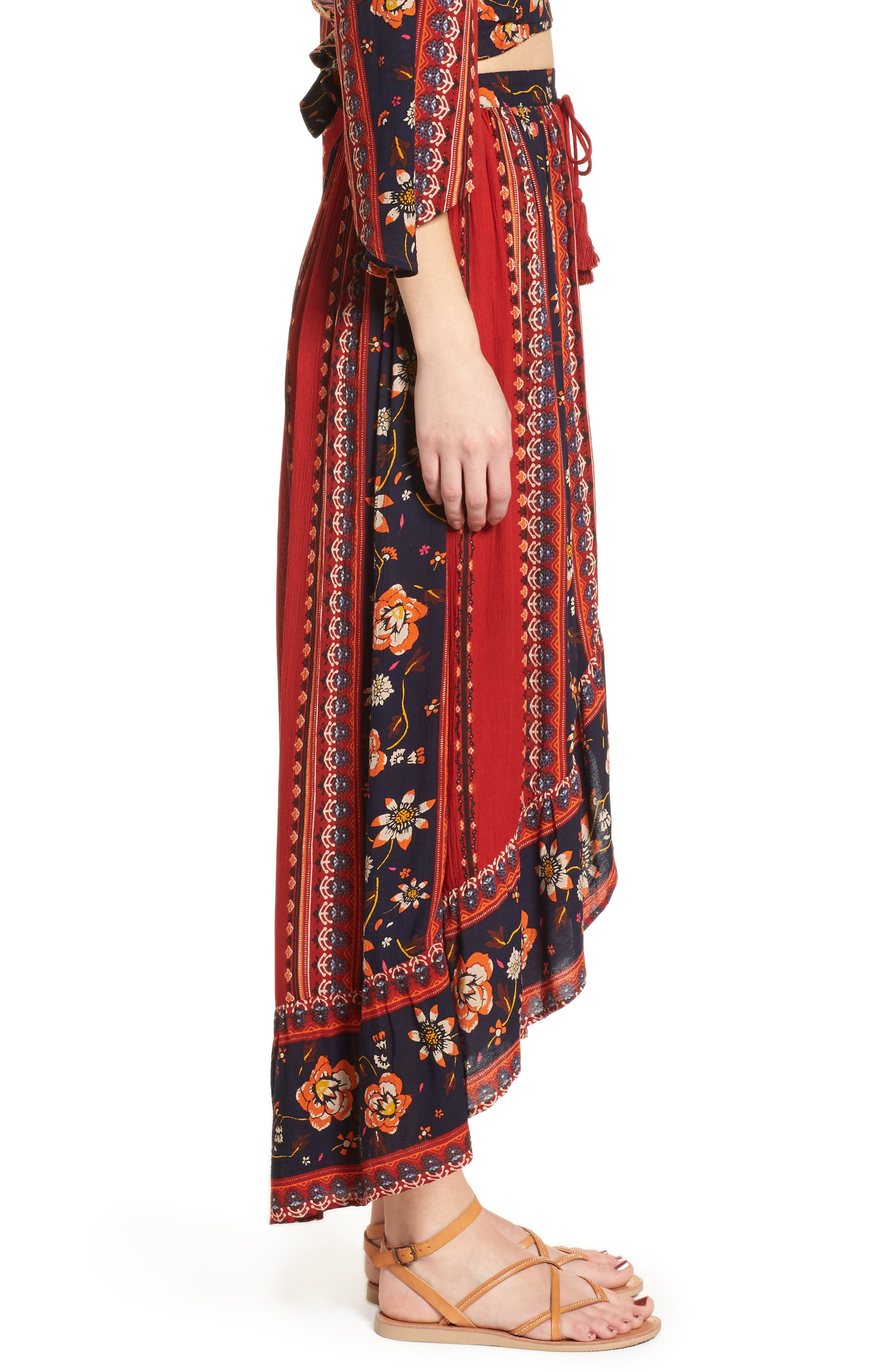 Alternate Image 4  - Band of Gypsies High/Low Button Front Skirt