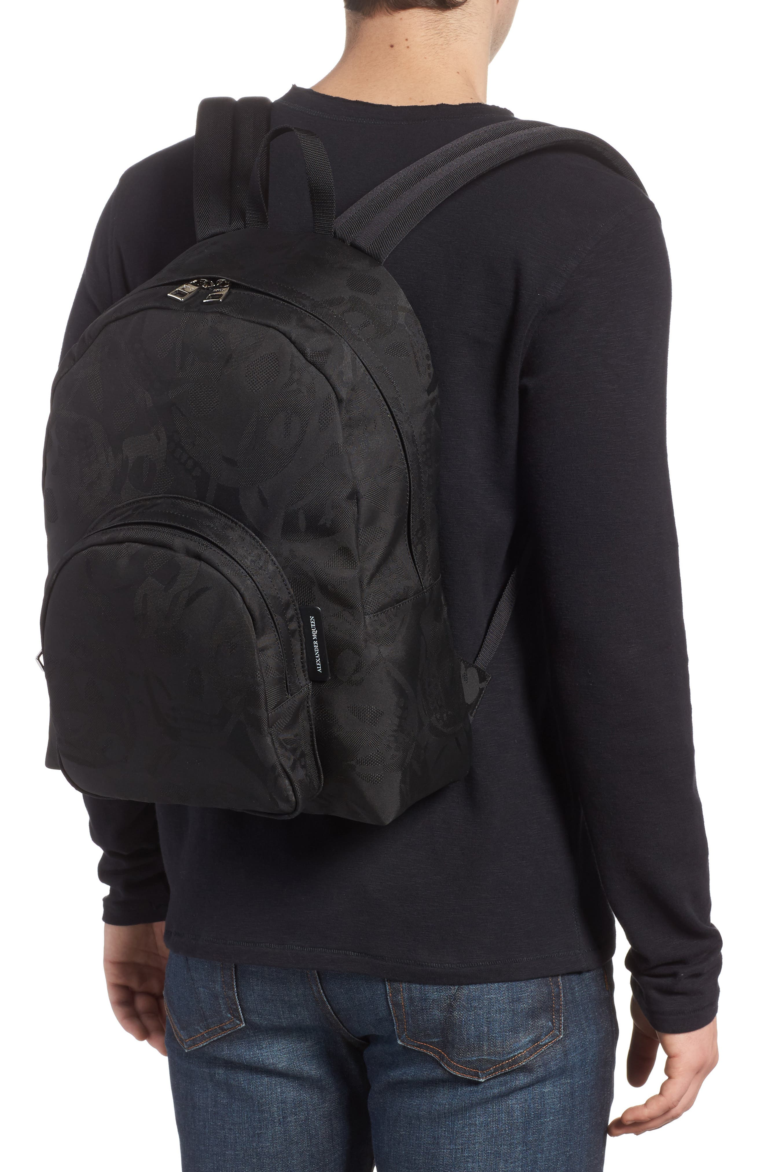 Small Backpack,                             Alternate thumbnail 2, color,                             Black