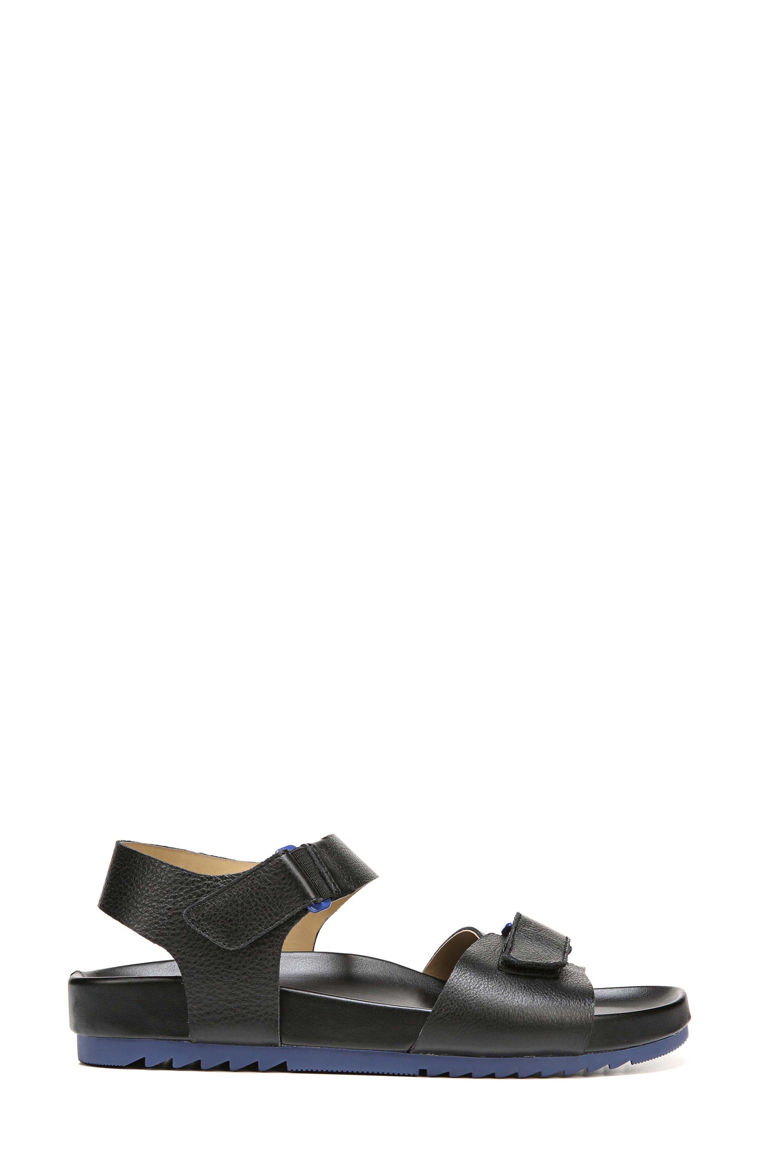 Ari Sandal,                             Alternate thumbnail 3, color,                             Black Pebble Leather