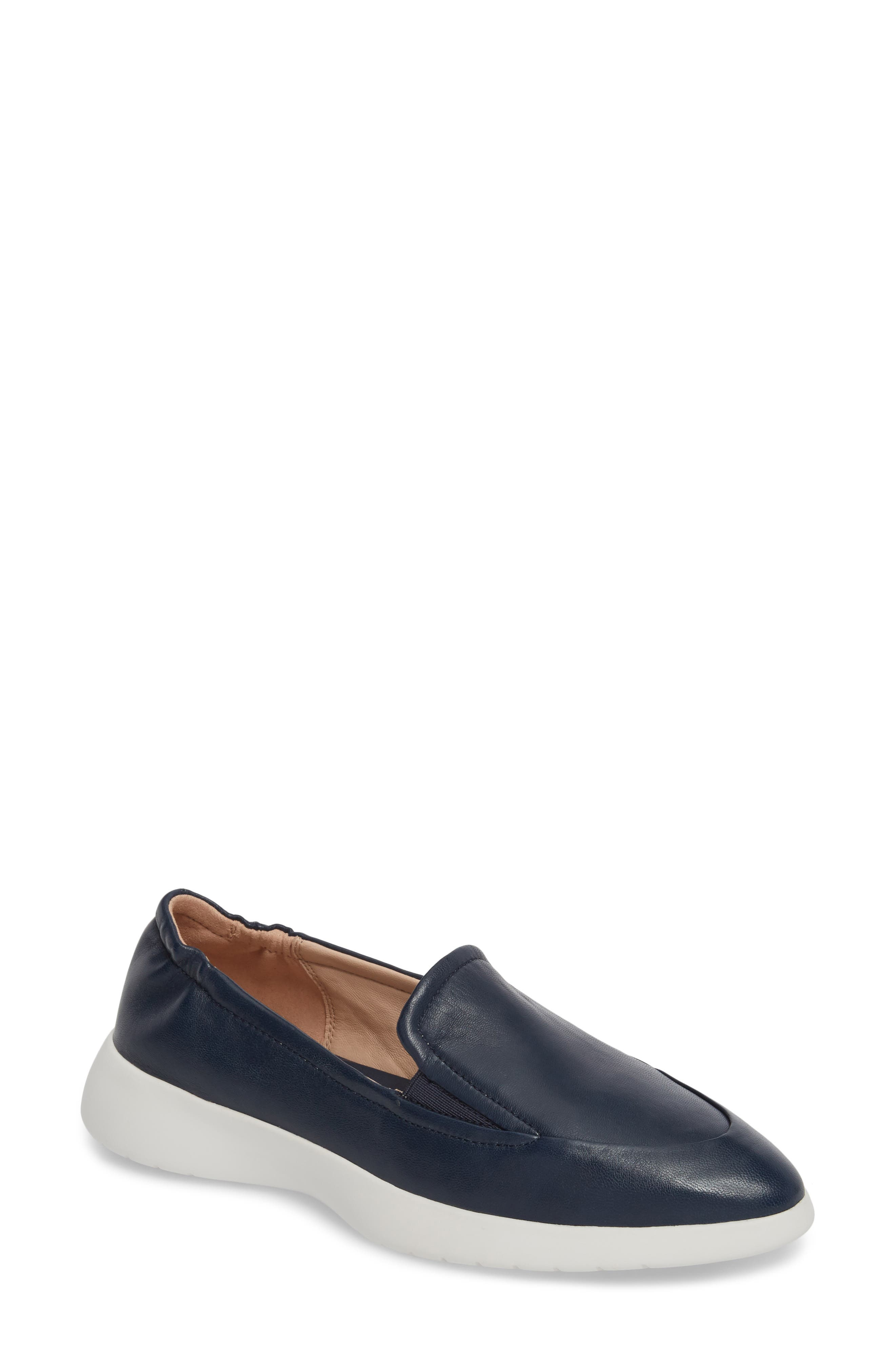 Dana Loafer Sneaker,                         Main,                         color, Navy Leather
