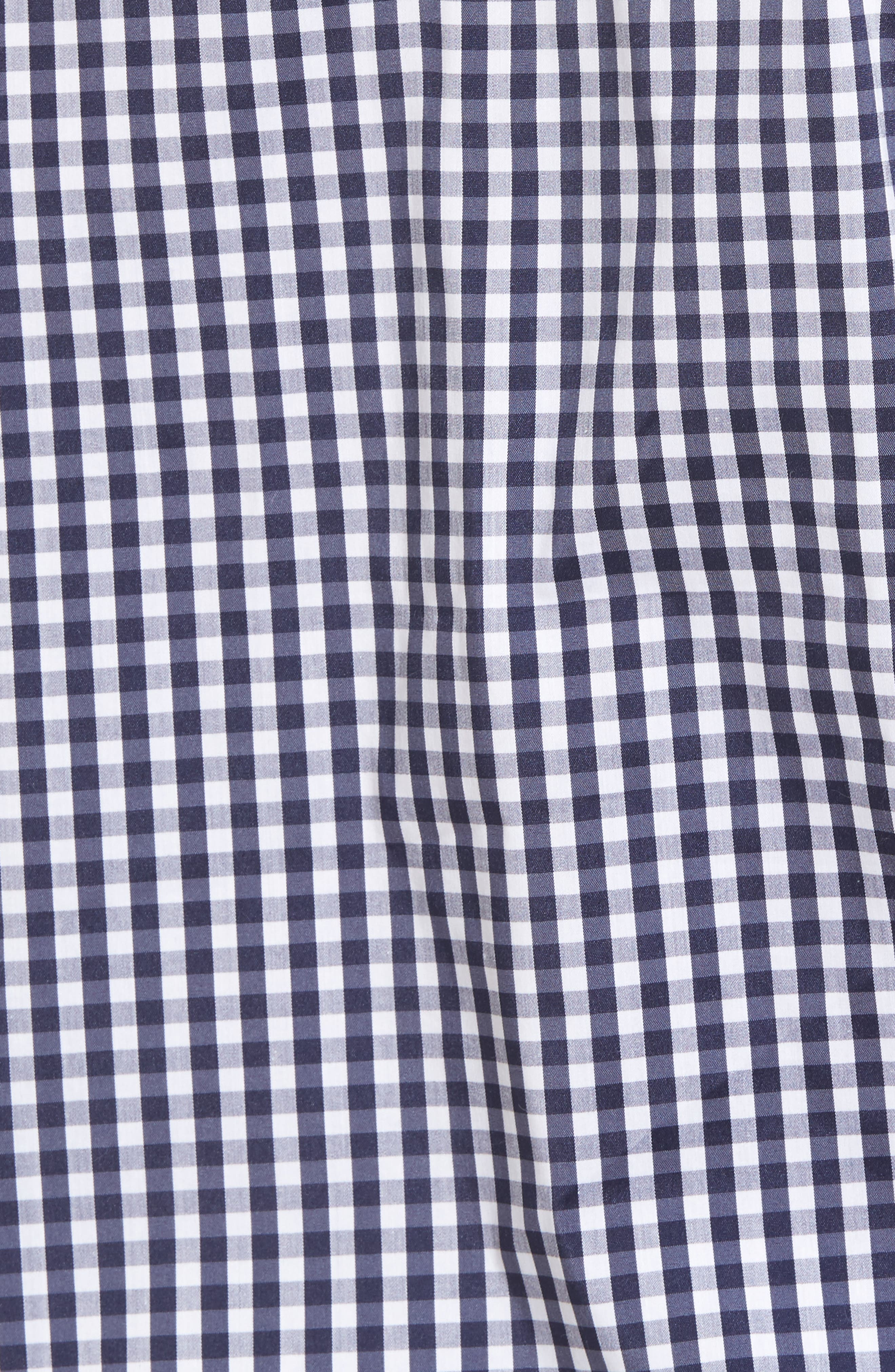 Gingham & Lace Blouse,                             Alternate thumbnail 5, color,                             Navy Evening- White Gingham