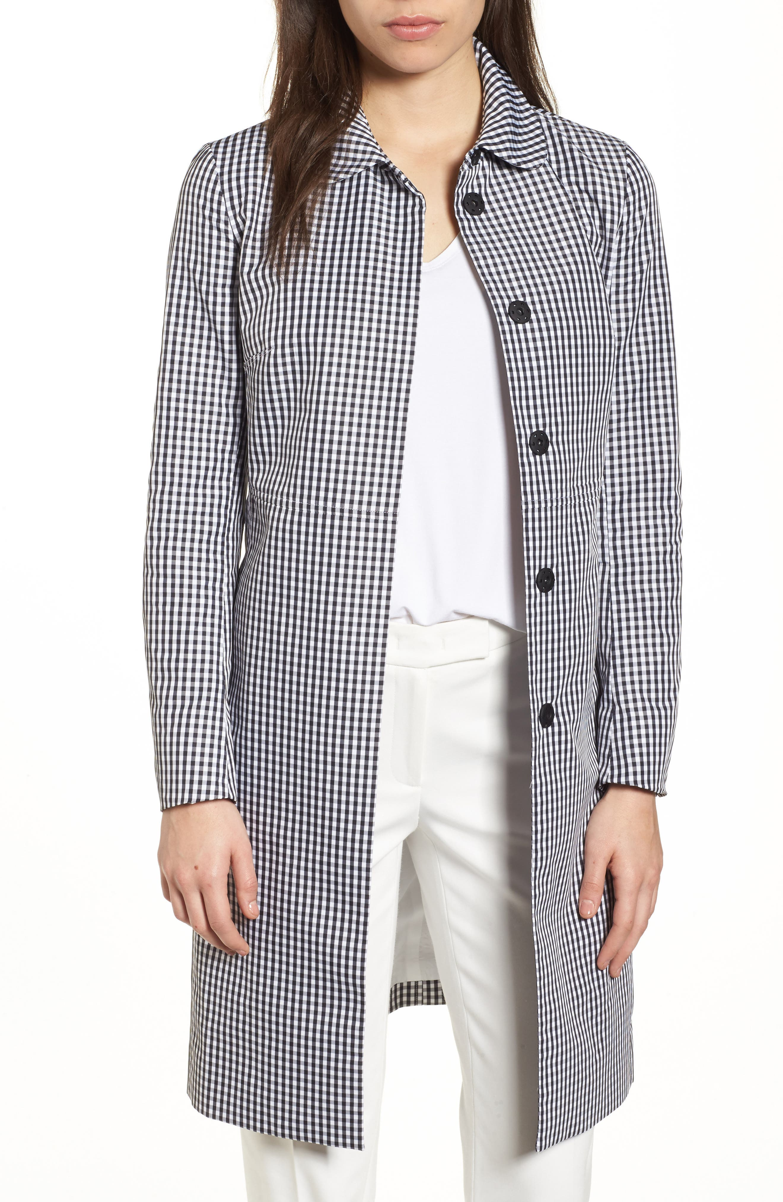 Anne Klein New York Gingham Coat