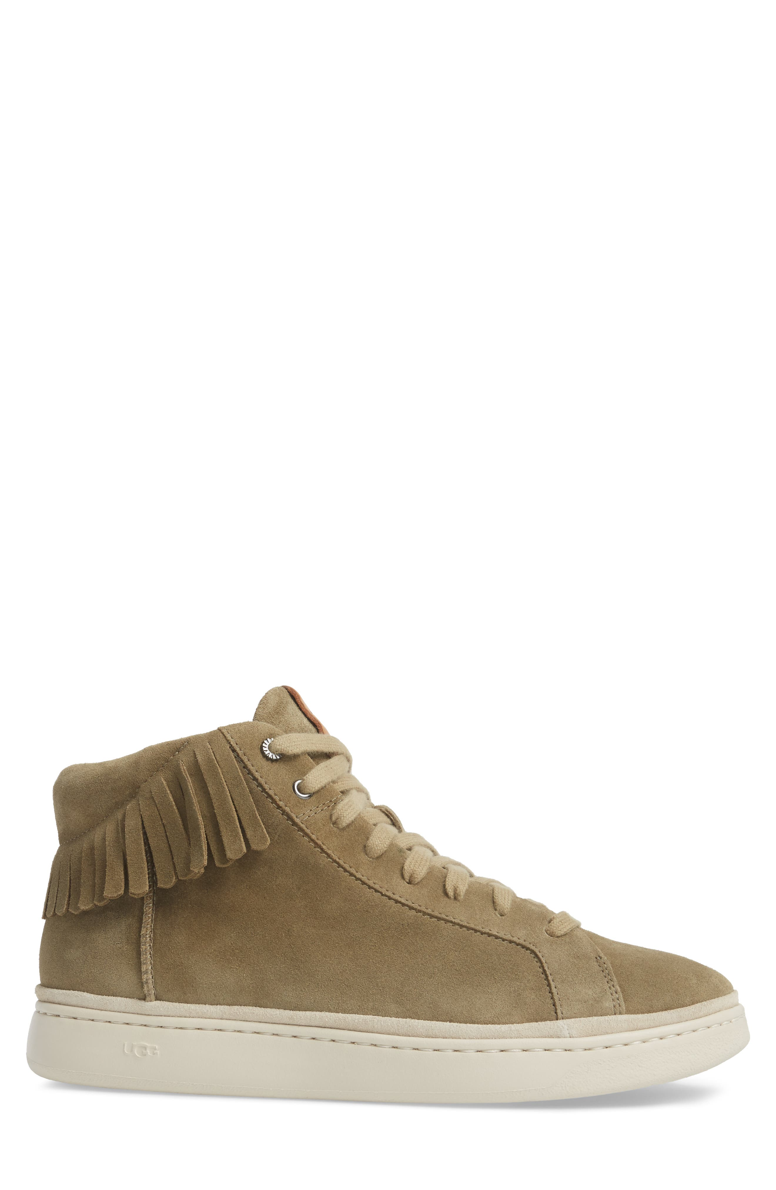 Alternate Image 3  - UGG® Brecken Fringe High-Top Sneaker (Men)