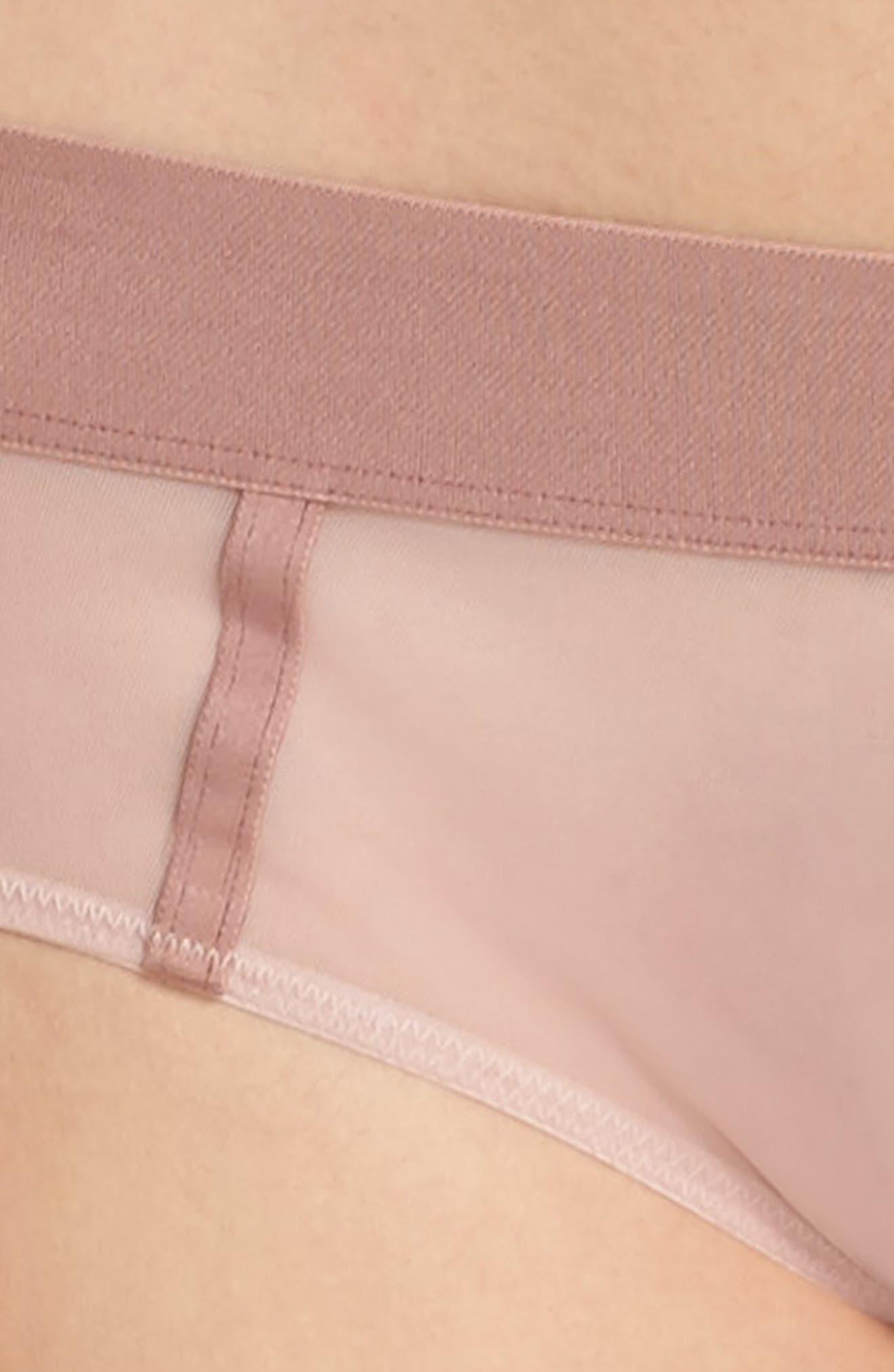 Alternate Image 8  - DKNY Sheers Hipster Panties