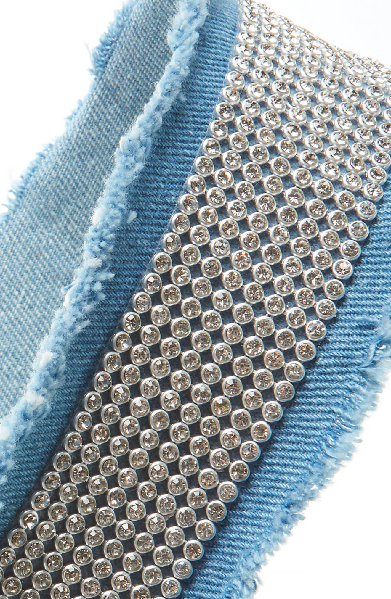 Denim Daze Crystal Embellished Head Wrap,                             Alternate thumbnail 2, color,                             Denim
