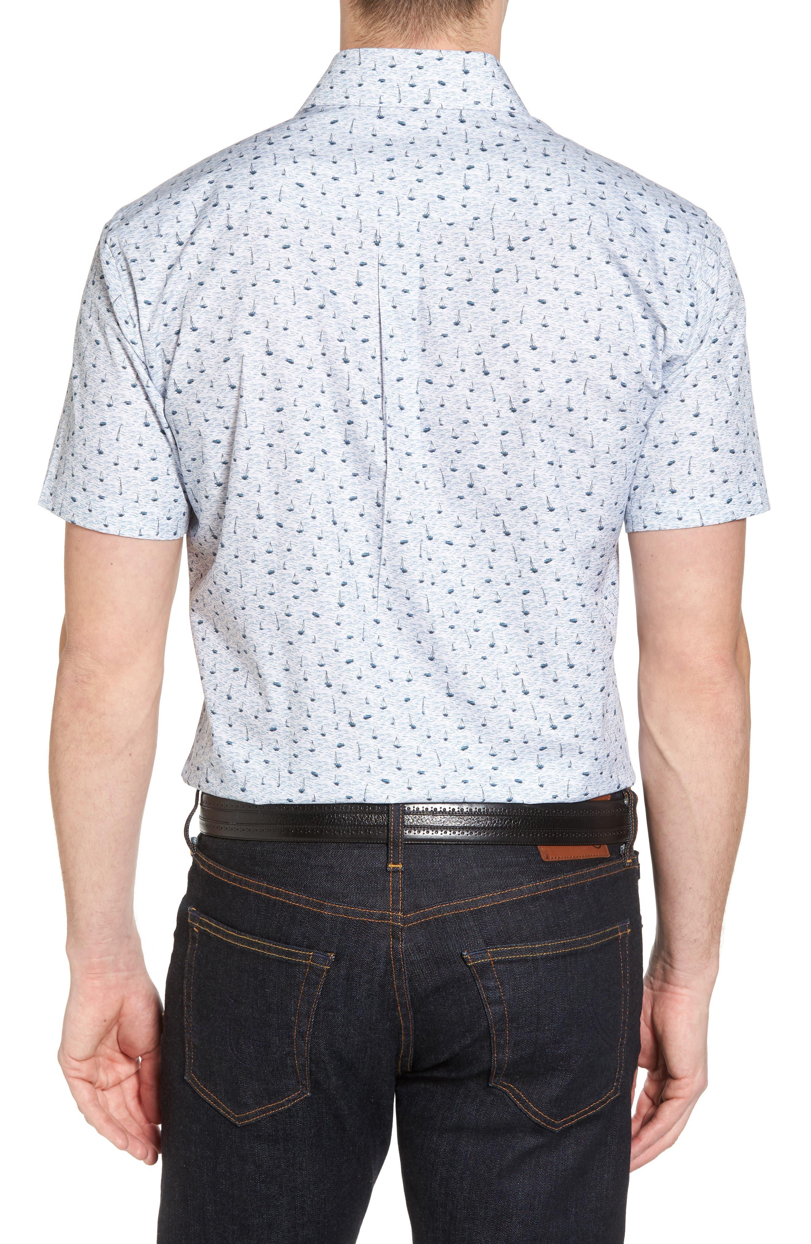 Stormy Tide Regular Fit Sport Shirt,                             Alternate thumbnail 2, color,                             Atlantic Blue
