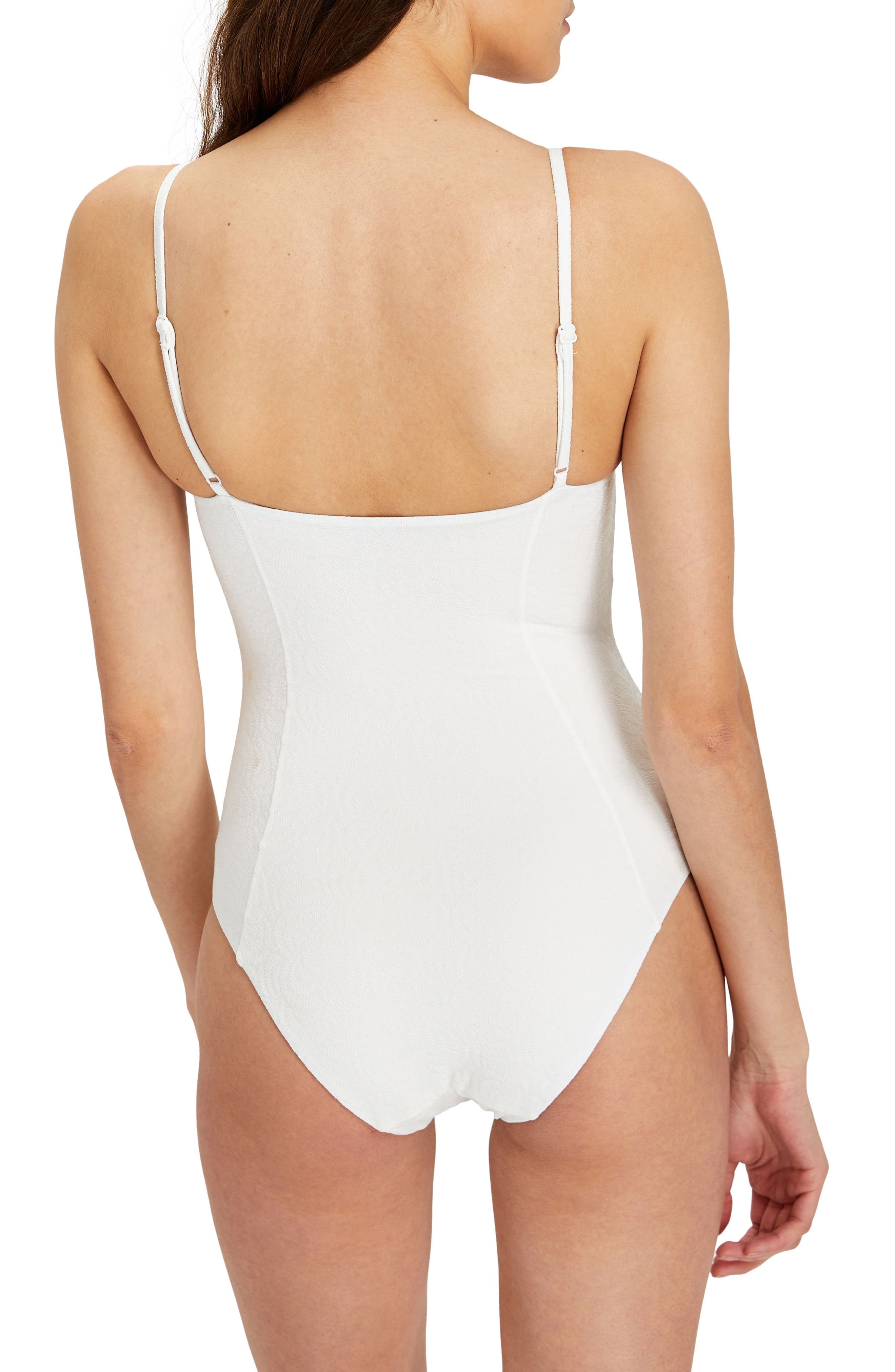 Isabella One-Piece Swimsuit,                             Alternate thumbnail 2, color,                             White
