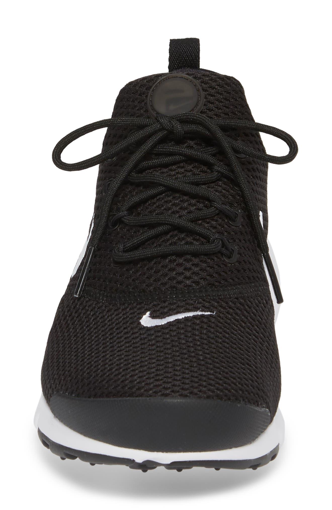 Presto Fly Sneaker,                             Alternate thumbnail 4, color,                             Black/ White/ White