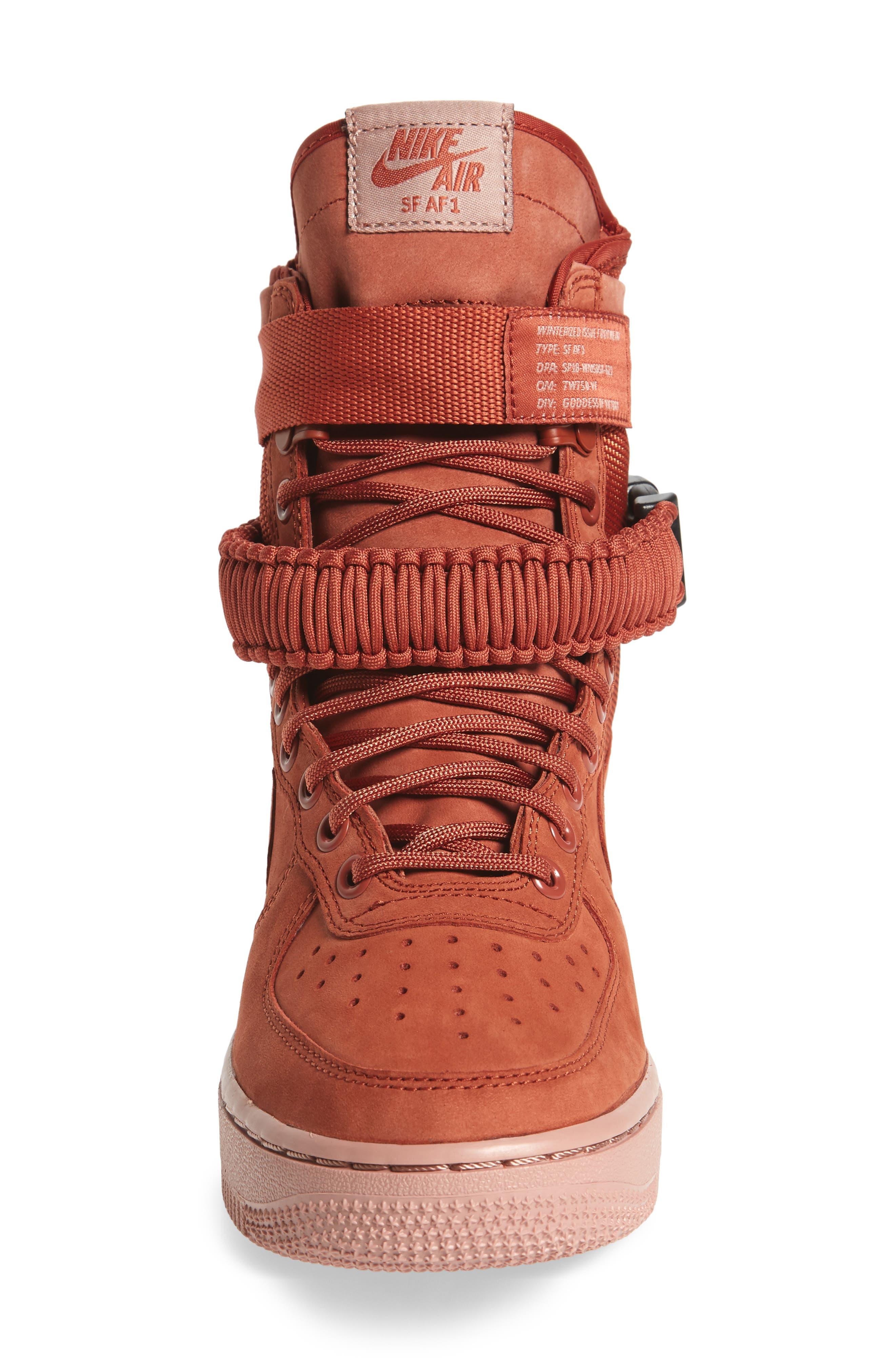 SF Air Force 1 High Top Sneaker,                             Alternate thumbnail 4, color,                             Dusty Peach/ Dusty Peach
