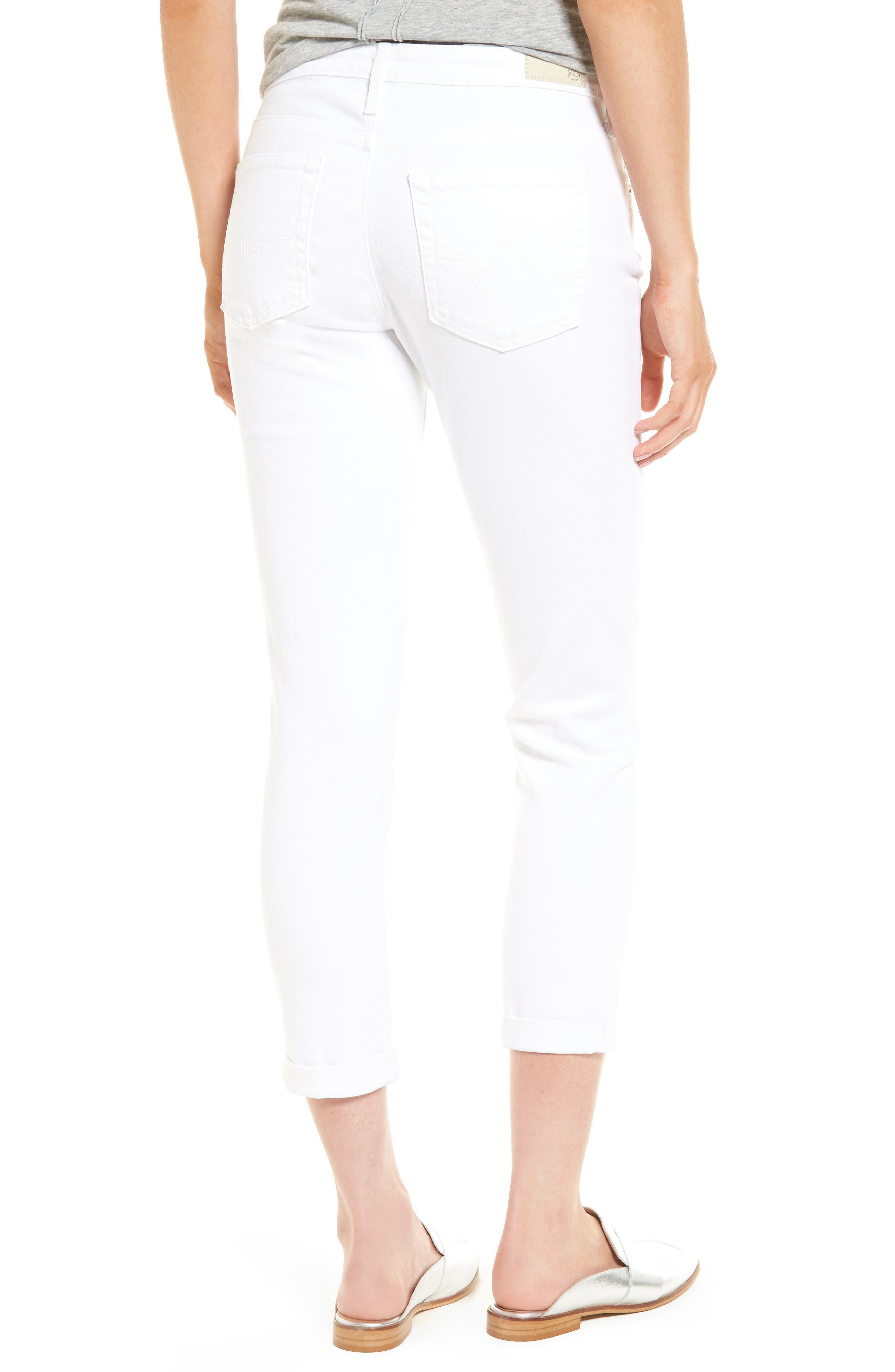 Prima Roll-Up Skinny Jeans,                             Alternate thumbnail 2, color,                             White
