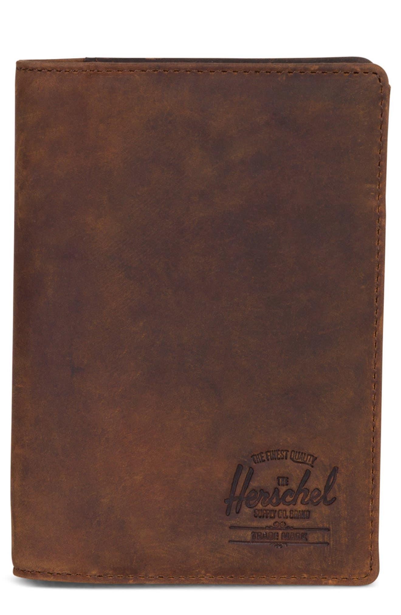 Main Image - Herschel Supply Co. Raynor Nubuck Leather Passport Holder
