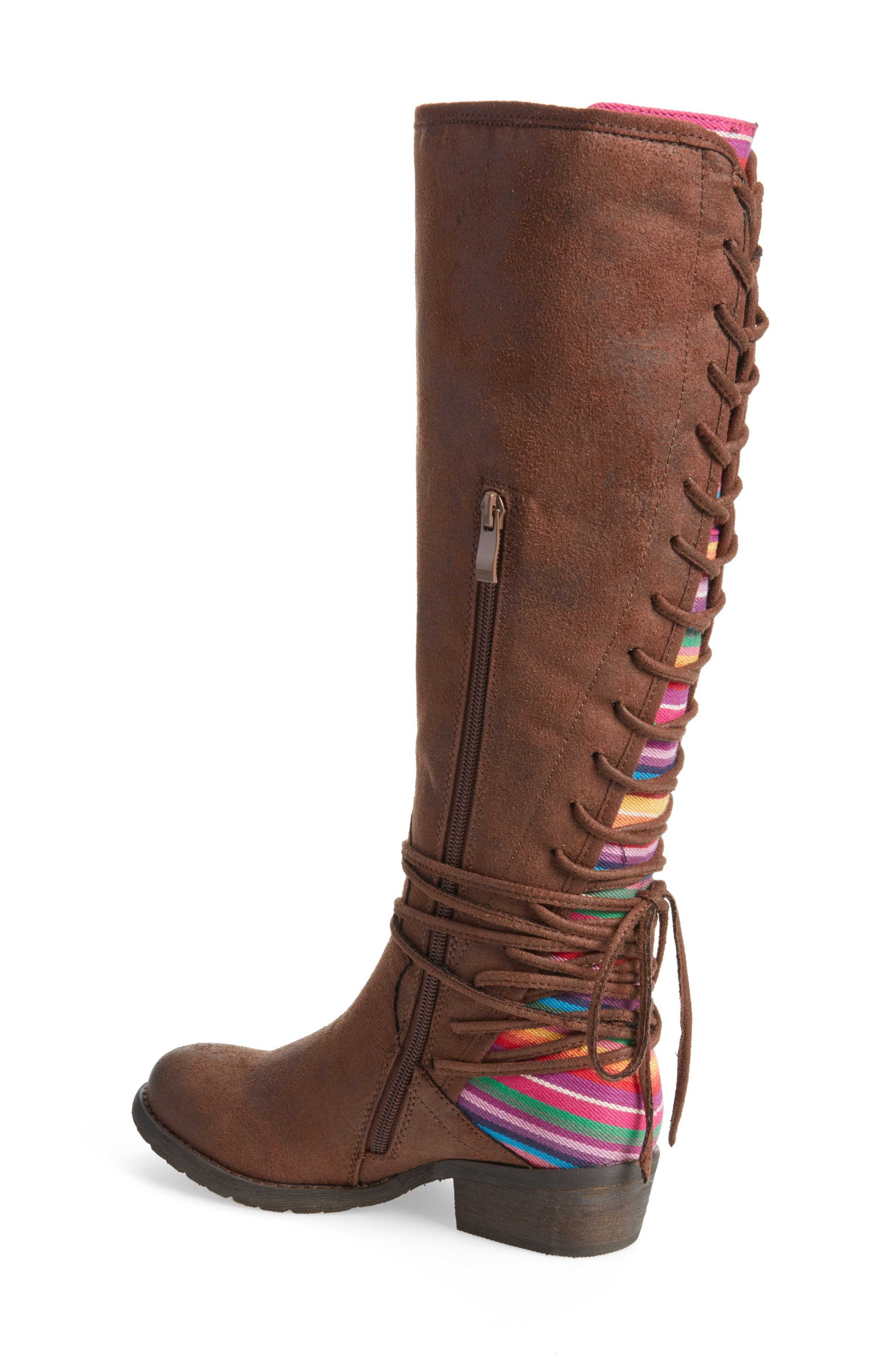 Marcel Corseted Knee High Boot,                             Alternate thumbnail 2, color,                             Serape