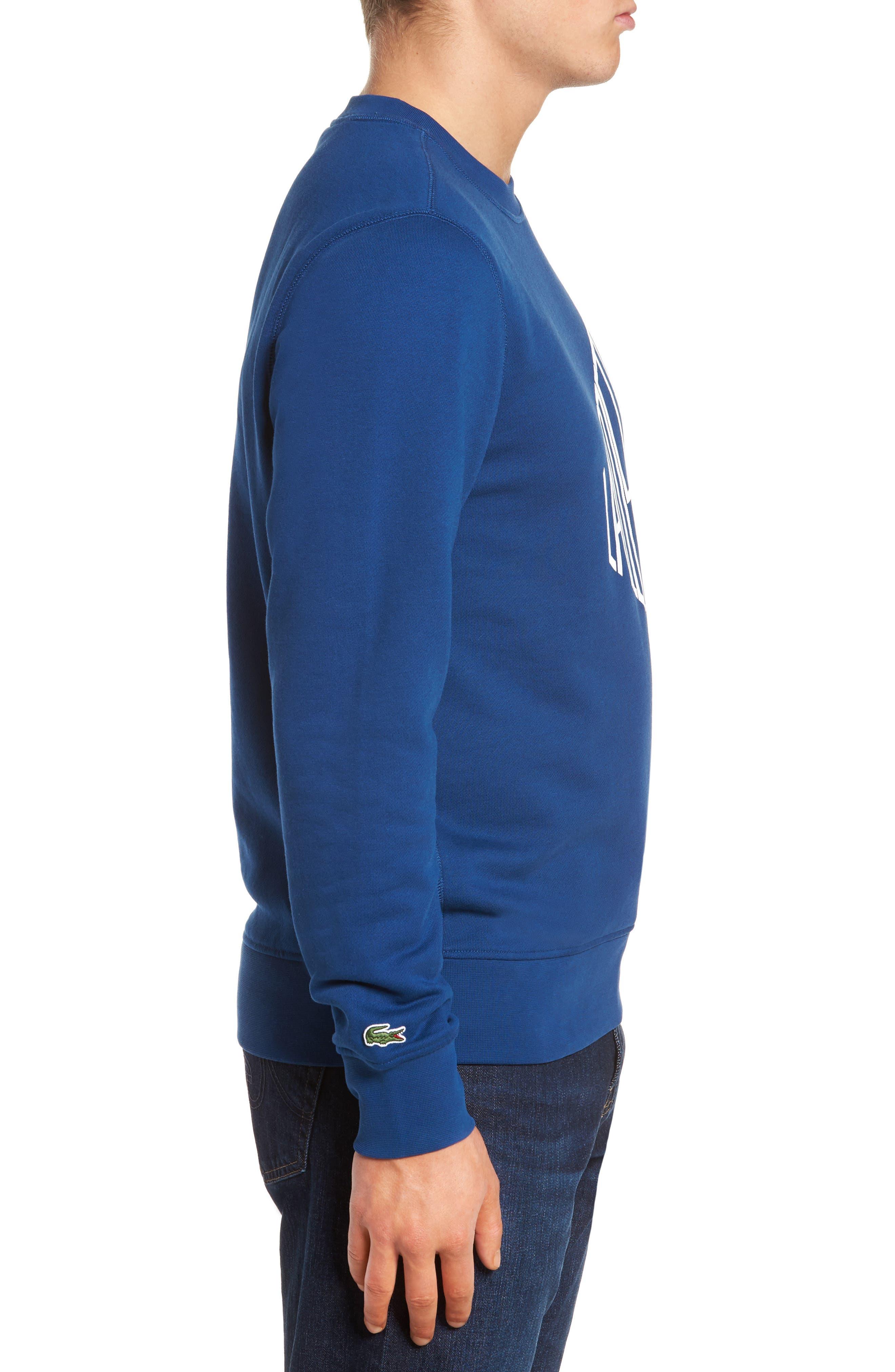 Alternate Image 3  - Lacoste Lettering Fleece Sweatshirt