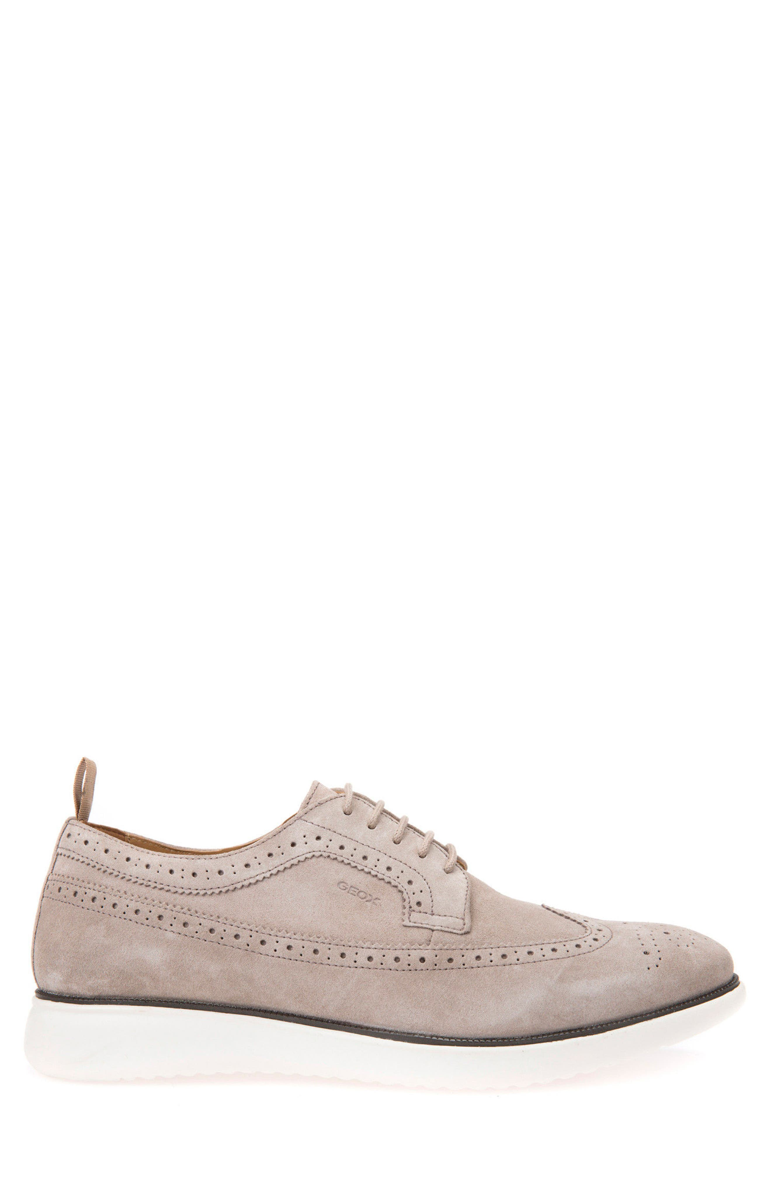 Winfred 2 Wingtip,                             Alternate thumbnail 3, color,                             Taupe Suede